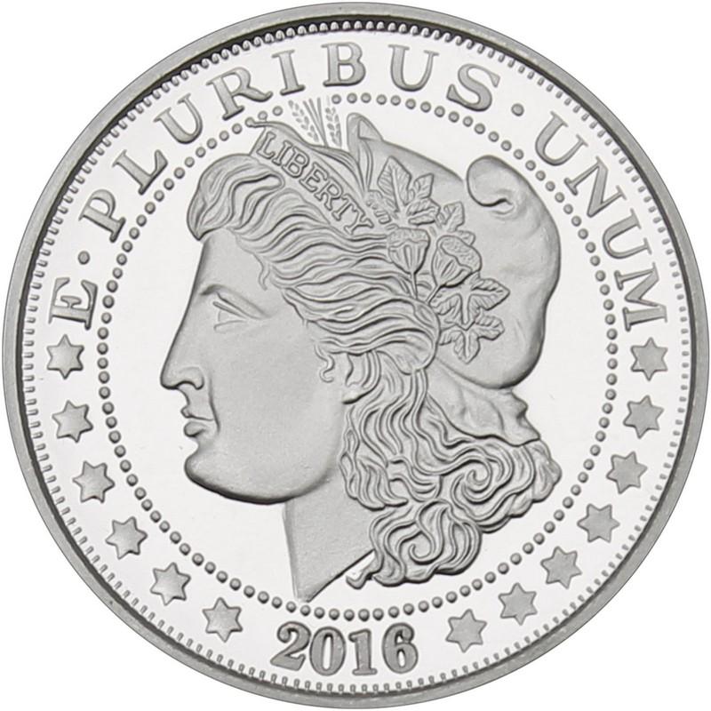 1 Troy Ounce Oz 999 Fine Silver Round Morgan Dollar