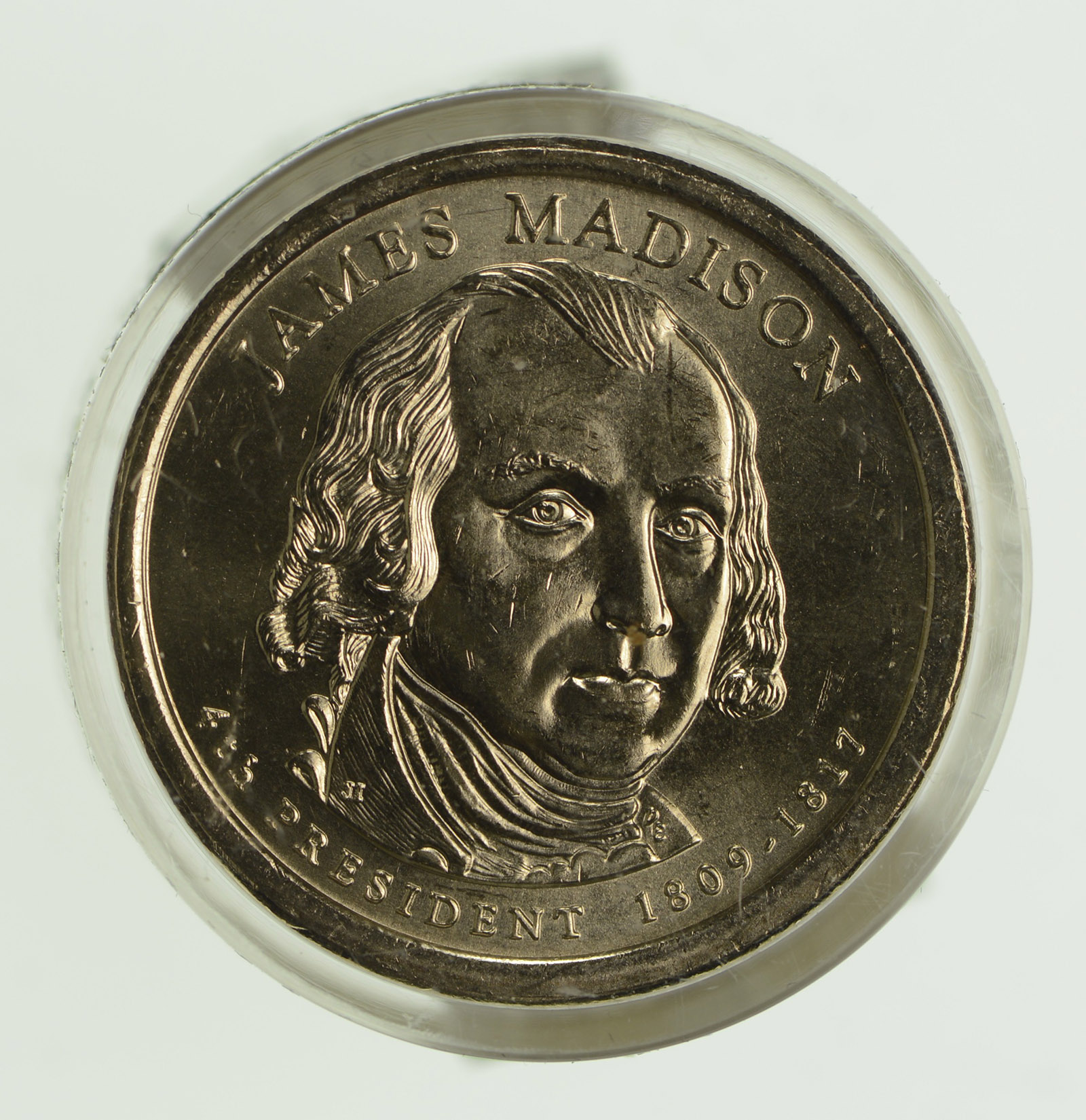 2007 US Mint P James Madison Presidential Dollar Coin Roll $25 Sealed Unopened