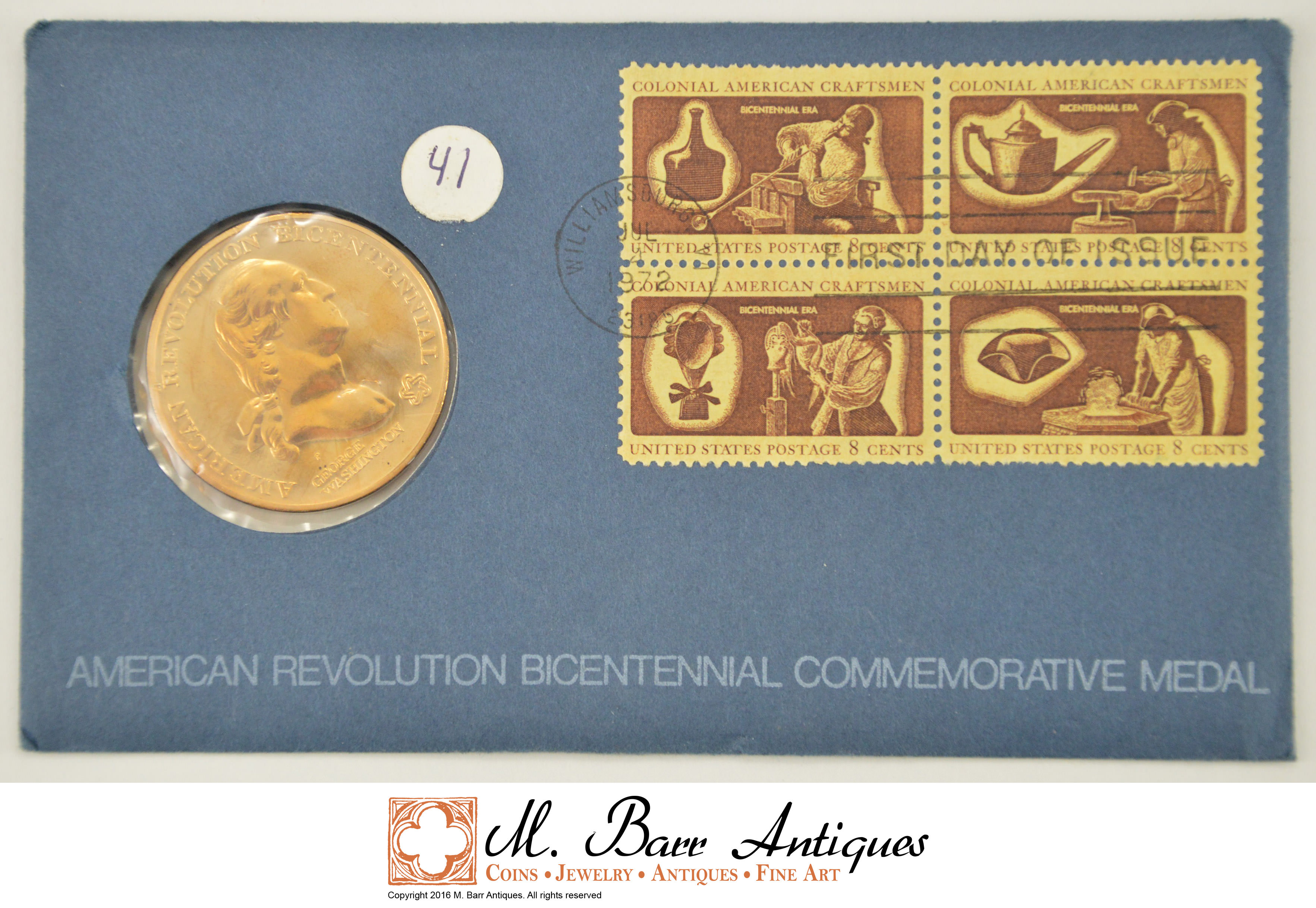 Image 1 Of 2 1776 1976 BiCentennial American Revolution US Mint Coin Stamp Cover