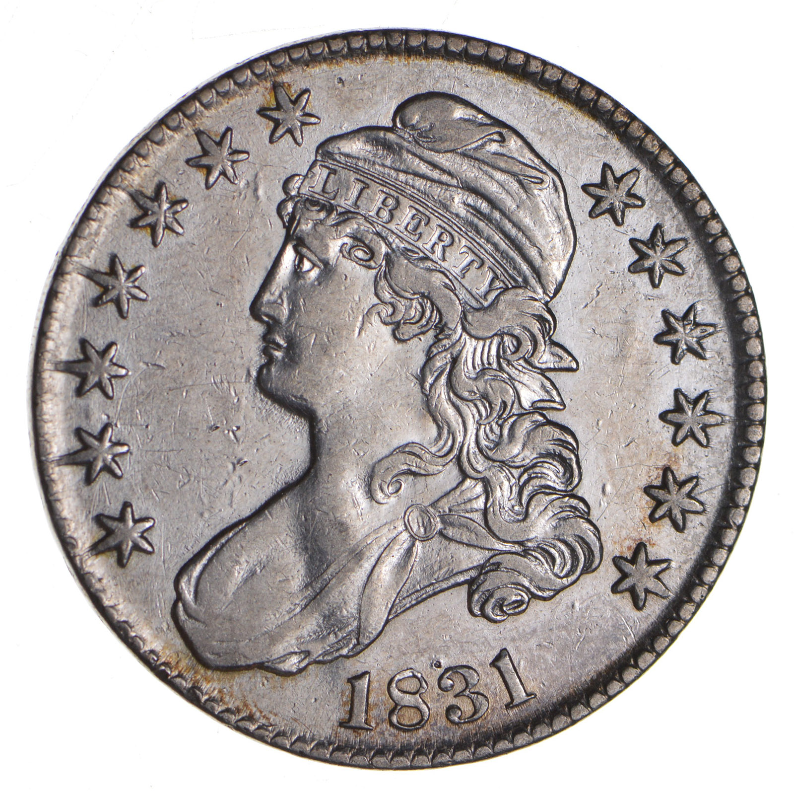 1831 Capped Bust Half Dollar Circulated Property Room