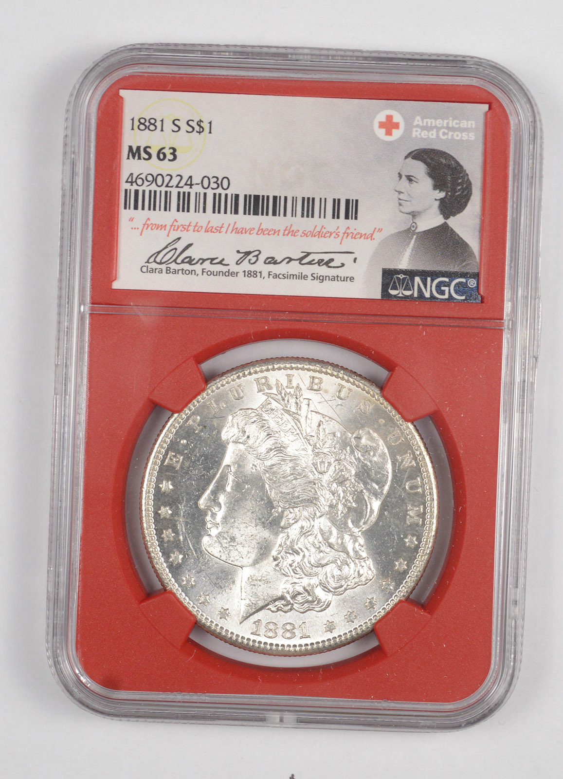 1881 $1 Morgan Silver Dollar NGC MS63