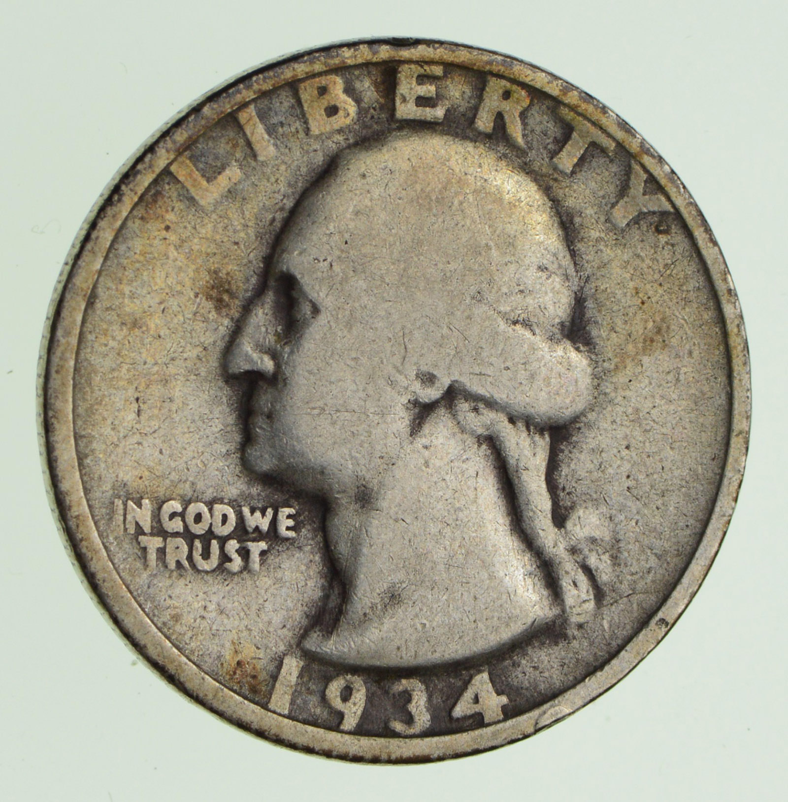1934 Washington Quarter - Double Die Obverse - Circulated | Property