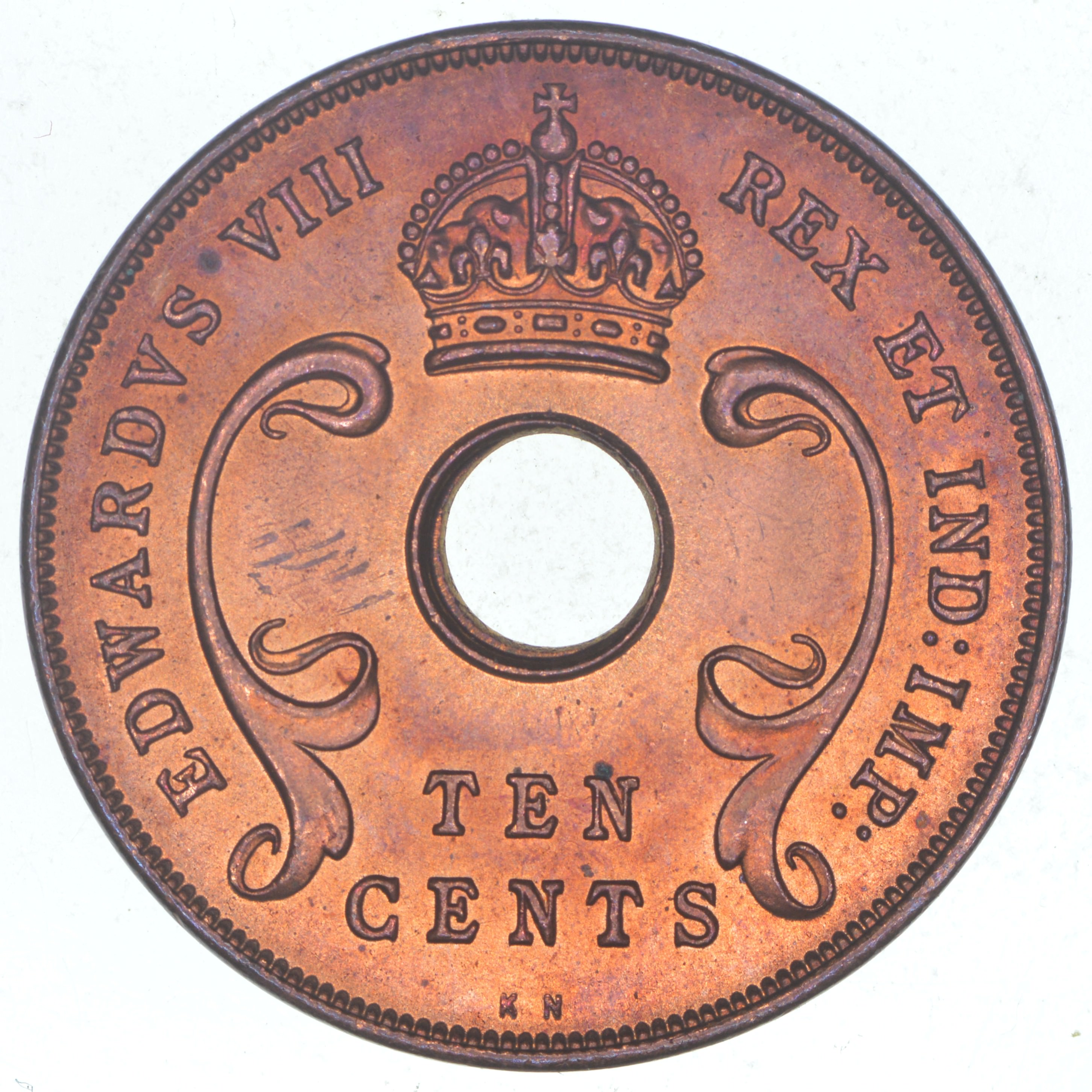 1936 East Africa 10 Cents Property Room