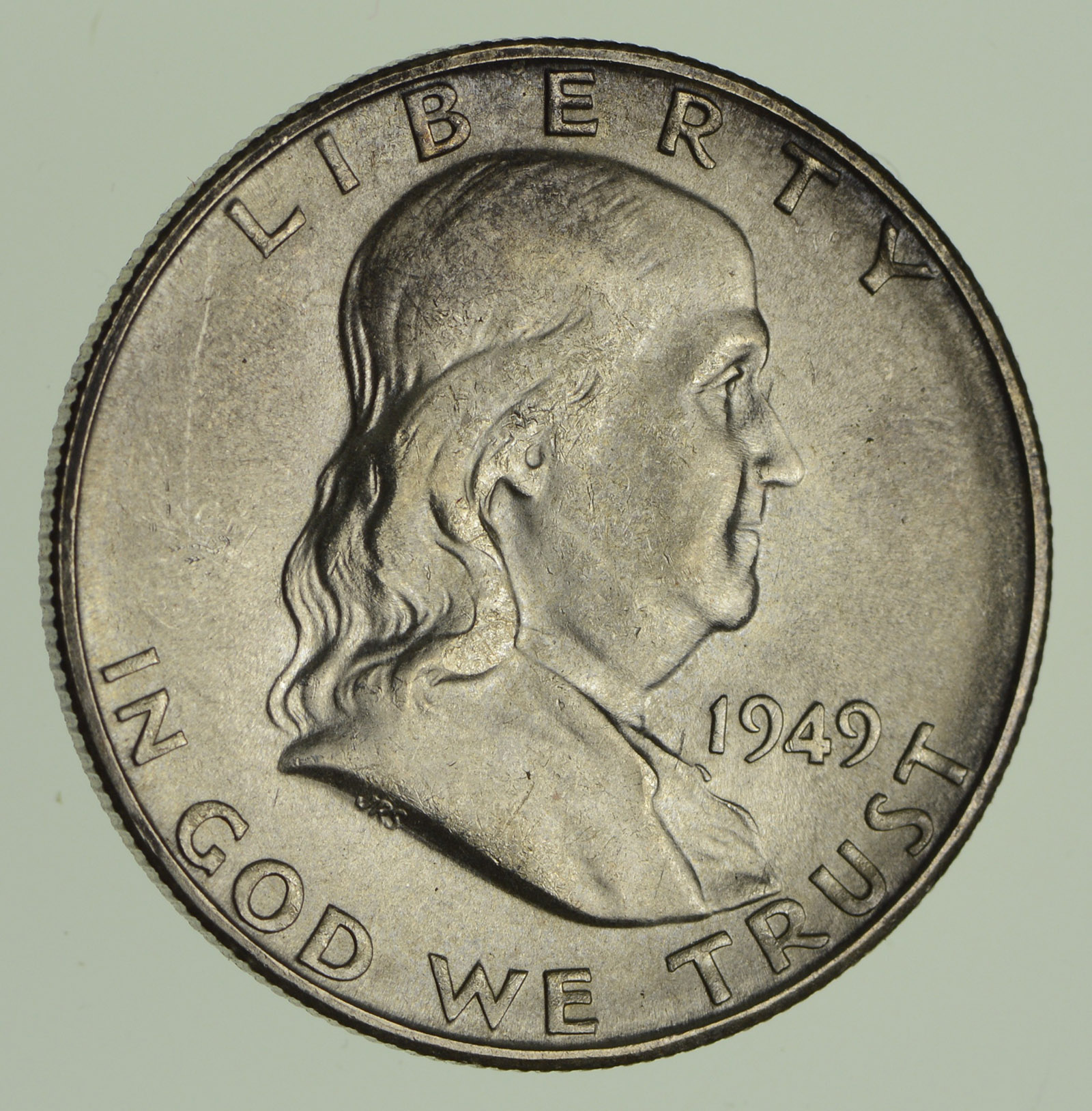 1949 S Franklin Half Dollar Not Circulated Property Room