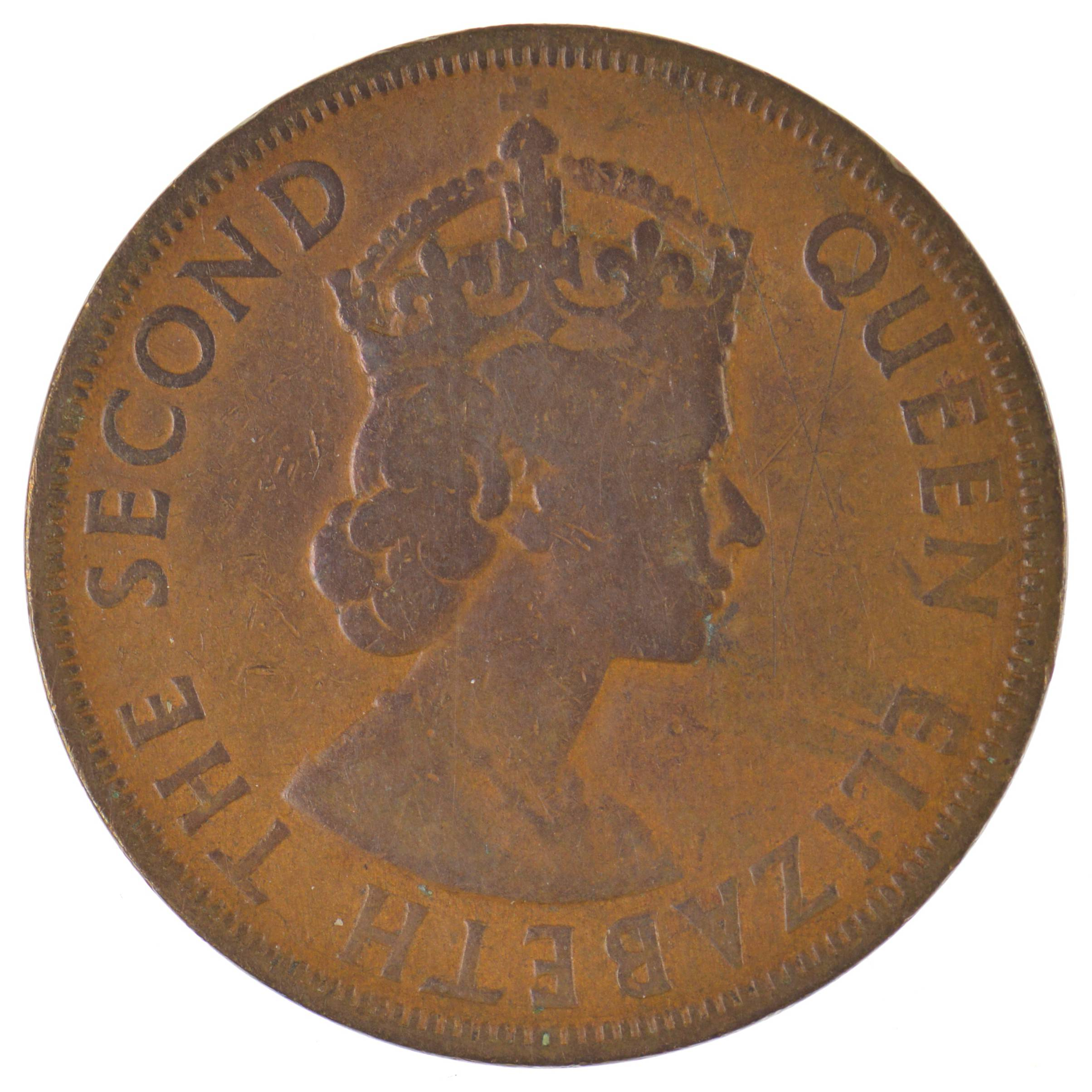 1955 British Caribbean Territories 2 Cents Queen Elizabeth