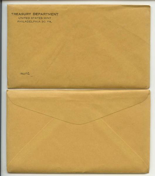 1962 Unopened (Envelope Still Sealed) U S  Silver Proof Set
