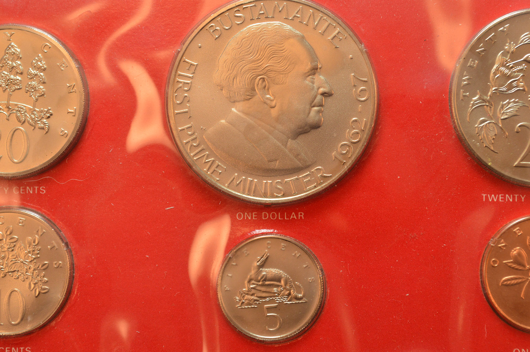 1973 Coins Of Jamaica Uncirculated Specimen Set W Bonus