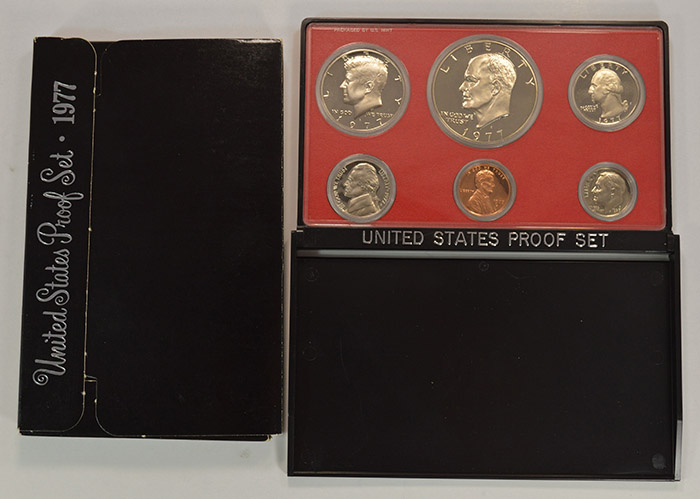 1977-S PROOF IKE DOLLAR,,,FROM US PROOF SET