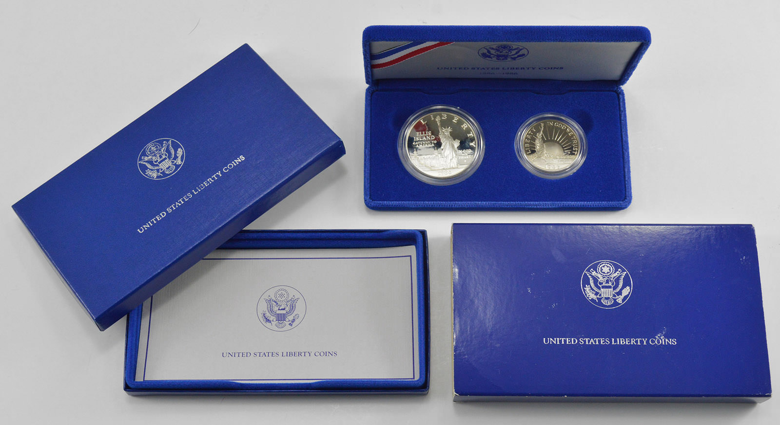 1986 Statue of Liberty Two Coins Proof Set Mint State