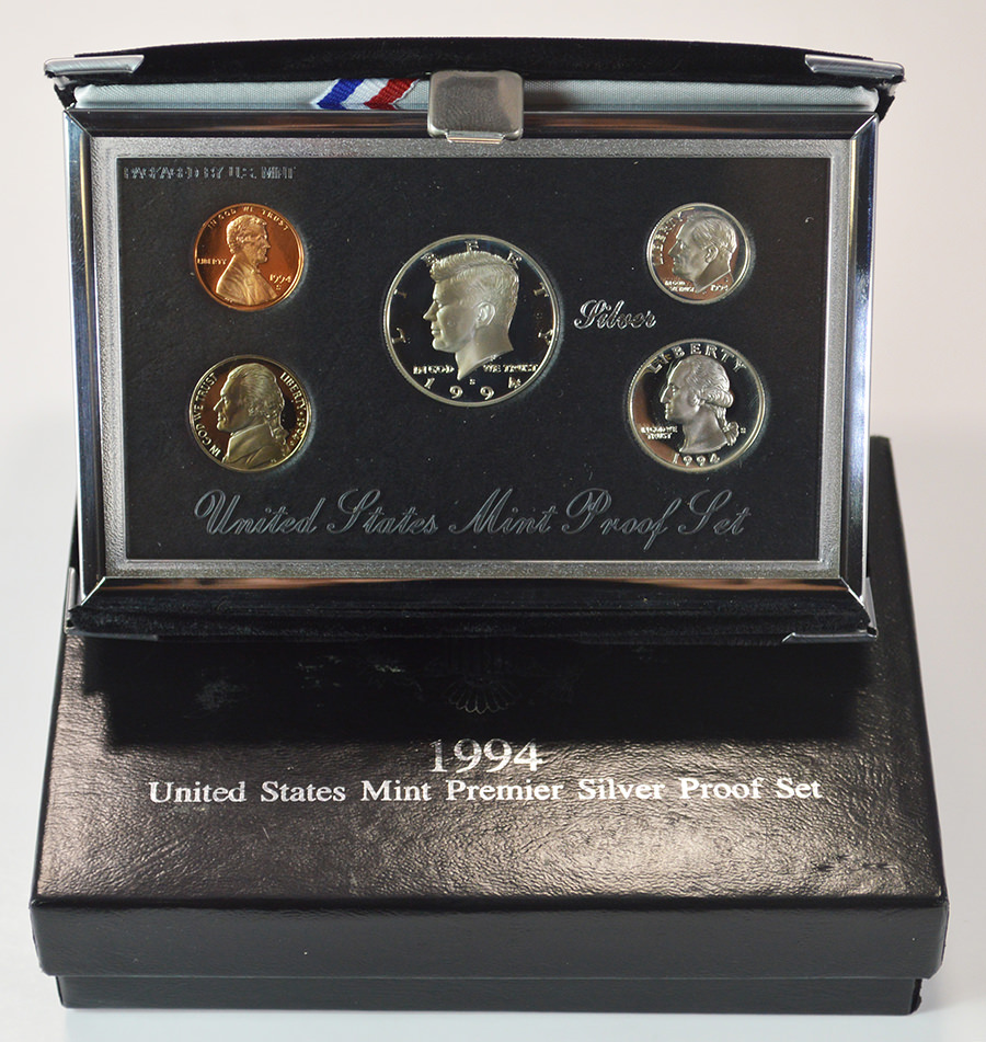 1994 US Mint Silver Proof Set With Box And CoA