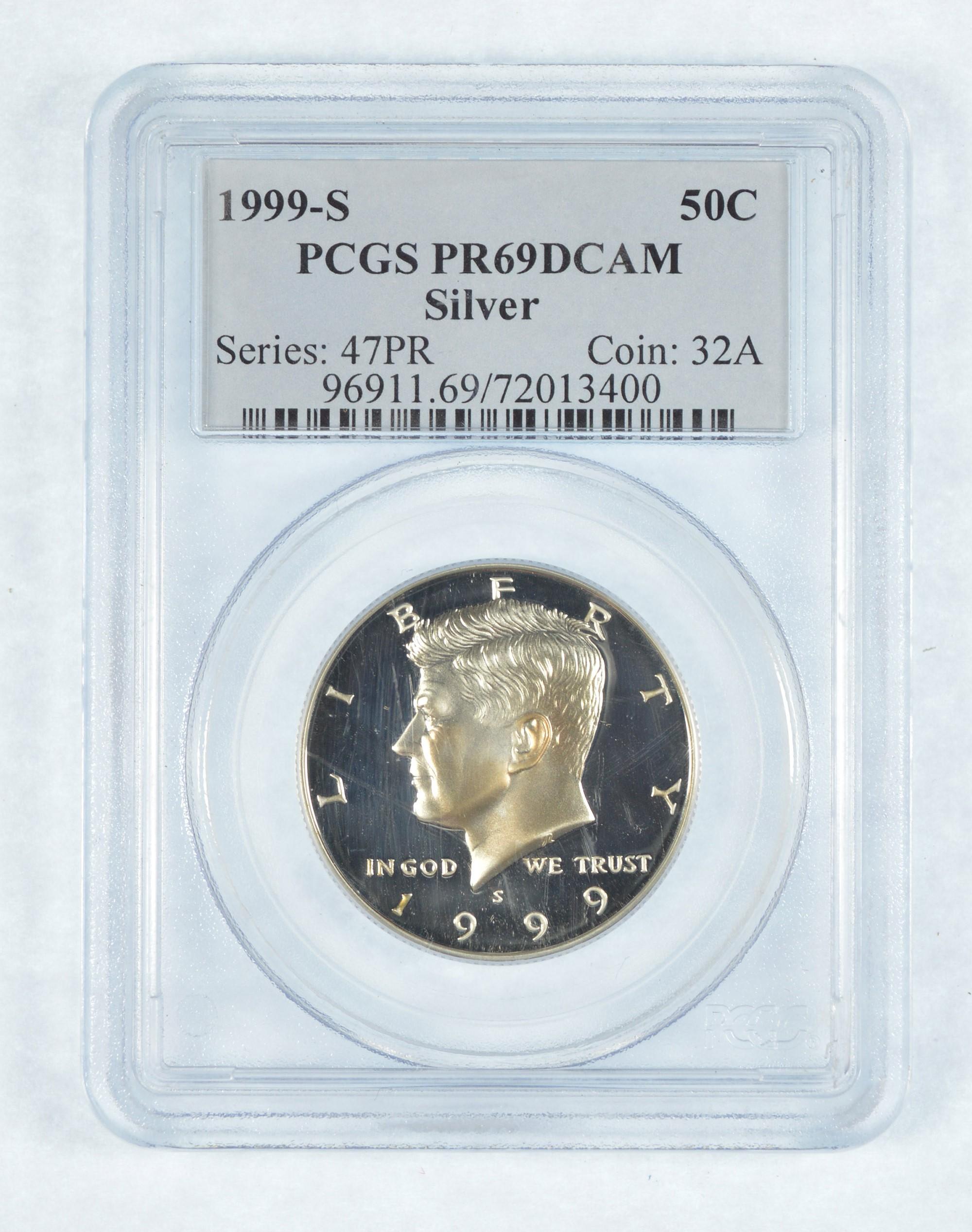 2001-S  Kennedy Half Dollar  PCGS PR69DCAM   free shipping!