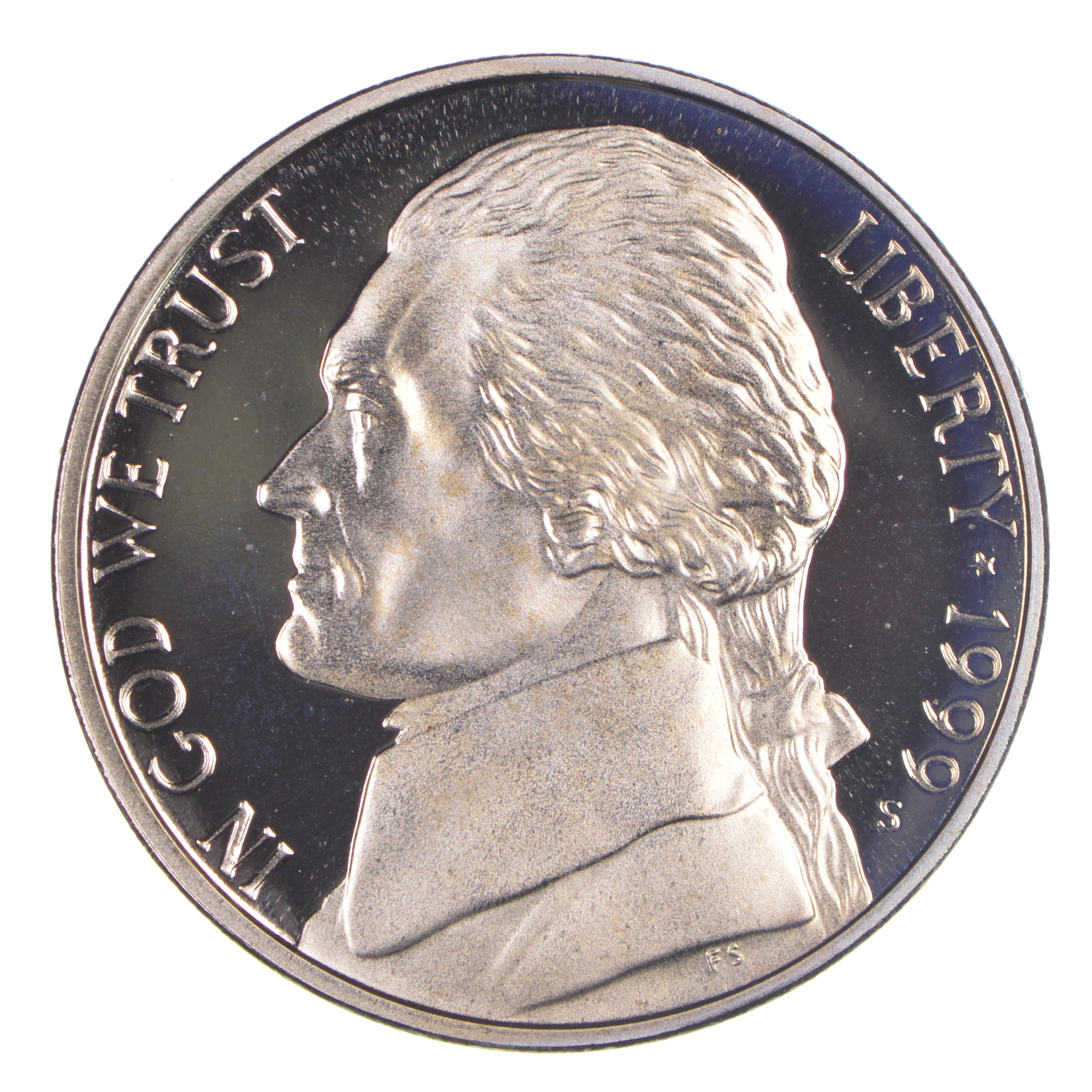 1999 S Proof Jefferson Nickel
