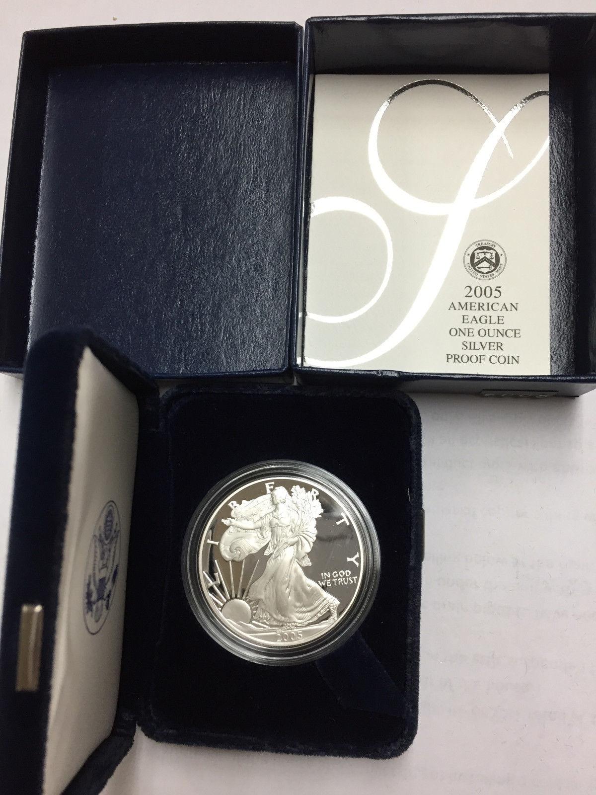 2005-W 1 oz Proof Silver American Eagle w//Box /& COA