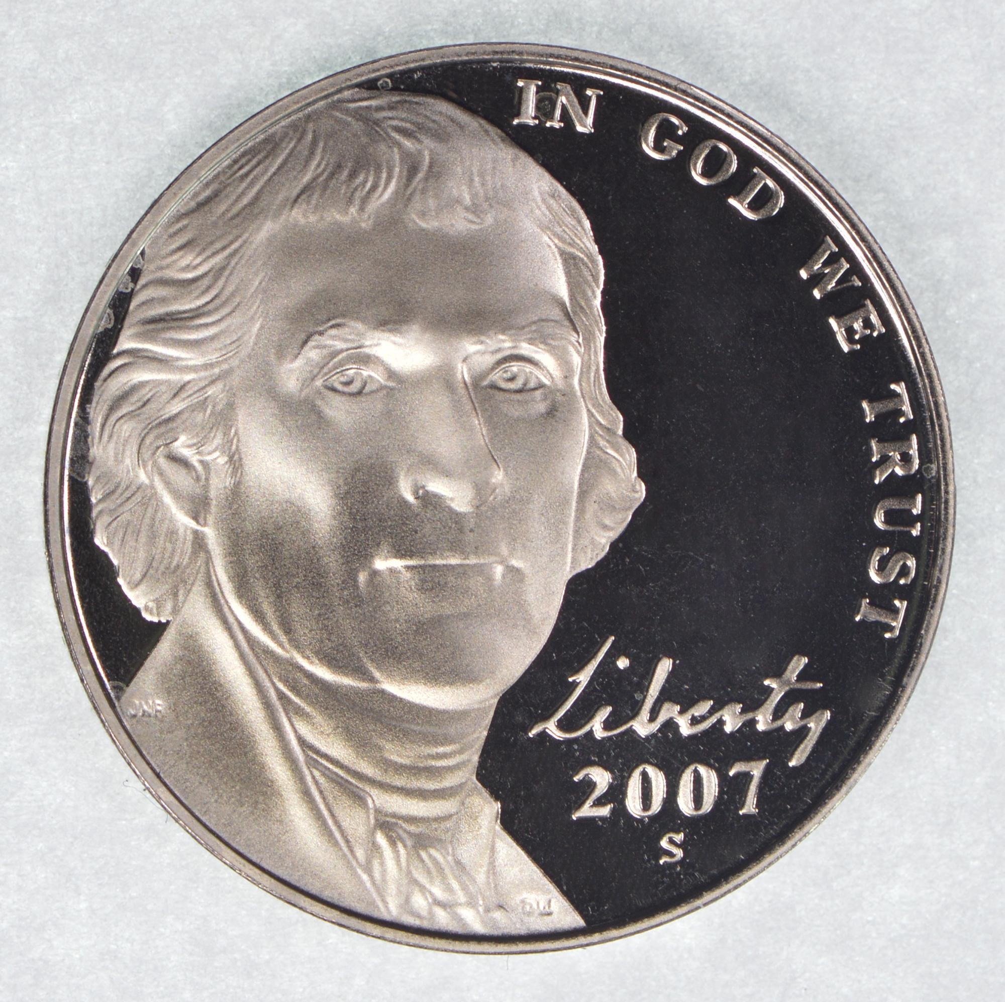 2007-S  PROOF  NICKEL