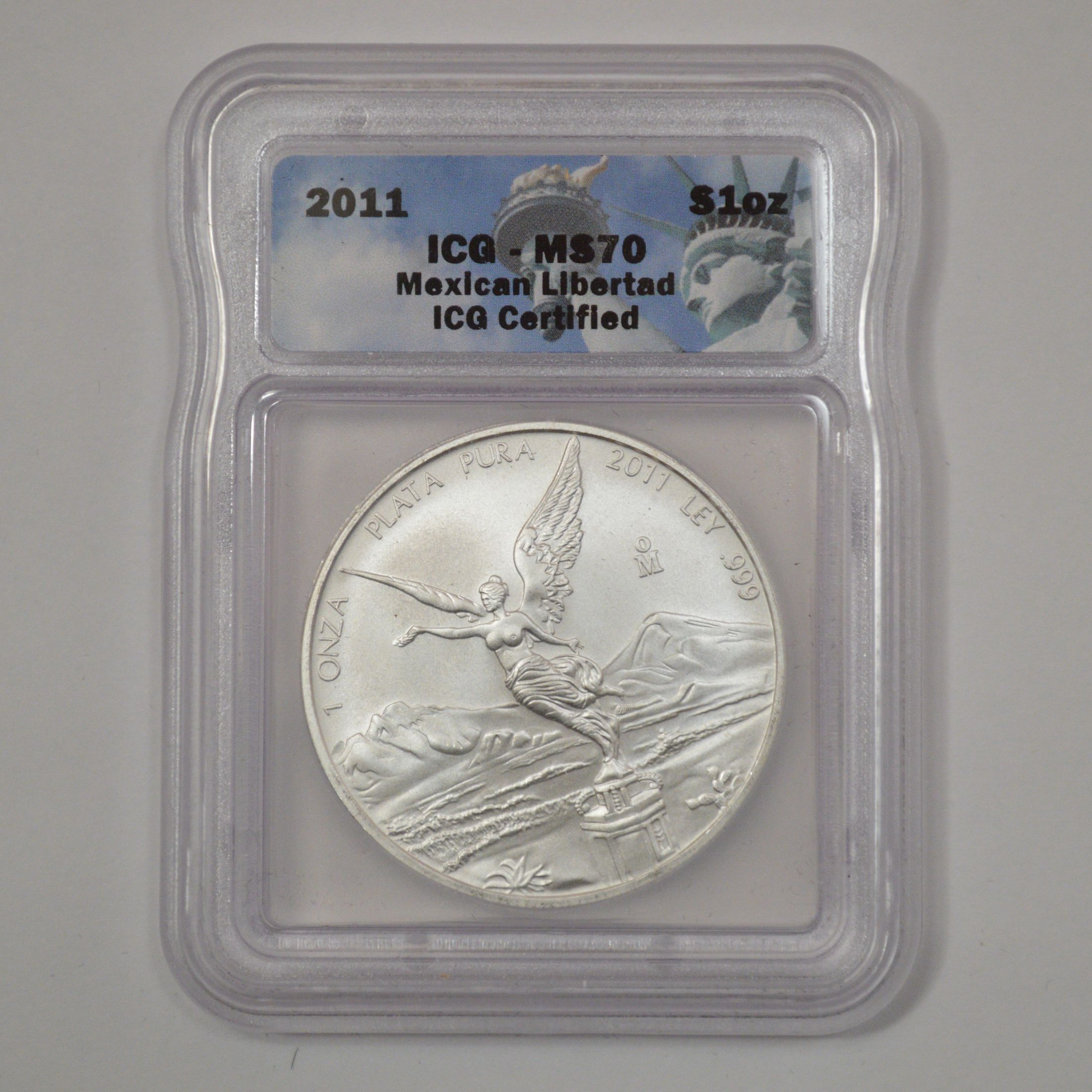 2011 American Silver Eagle First Release San Francisco 1oz .999 ICG MS70 S
