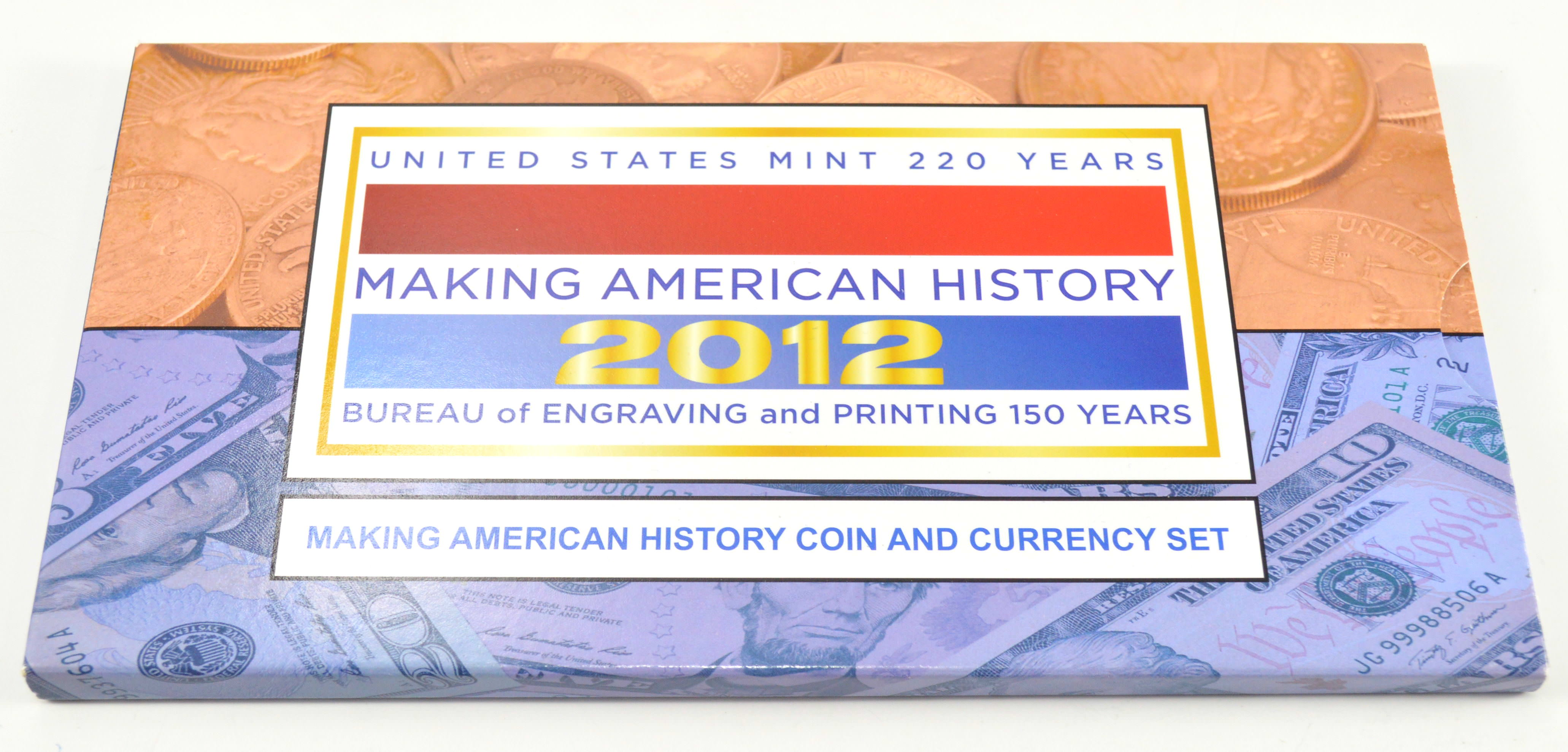 2012 Making American History 220 Years Coin And Currency
