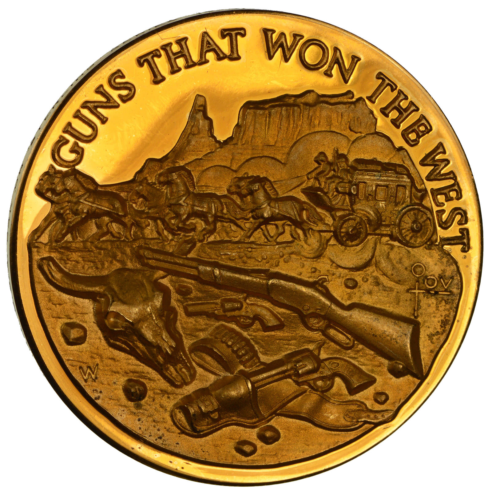 24K Gold Plated SILVER - Guns That Won the West WILD WEST  925