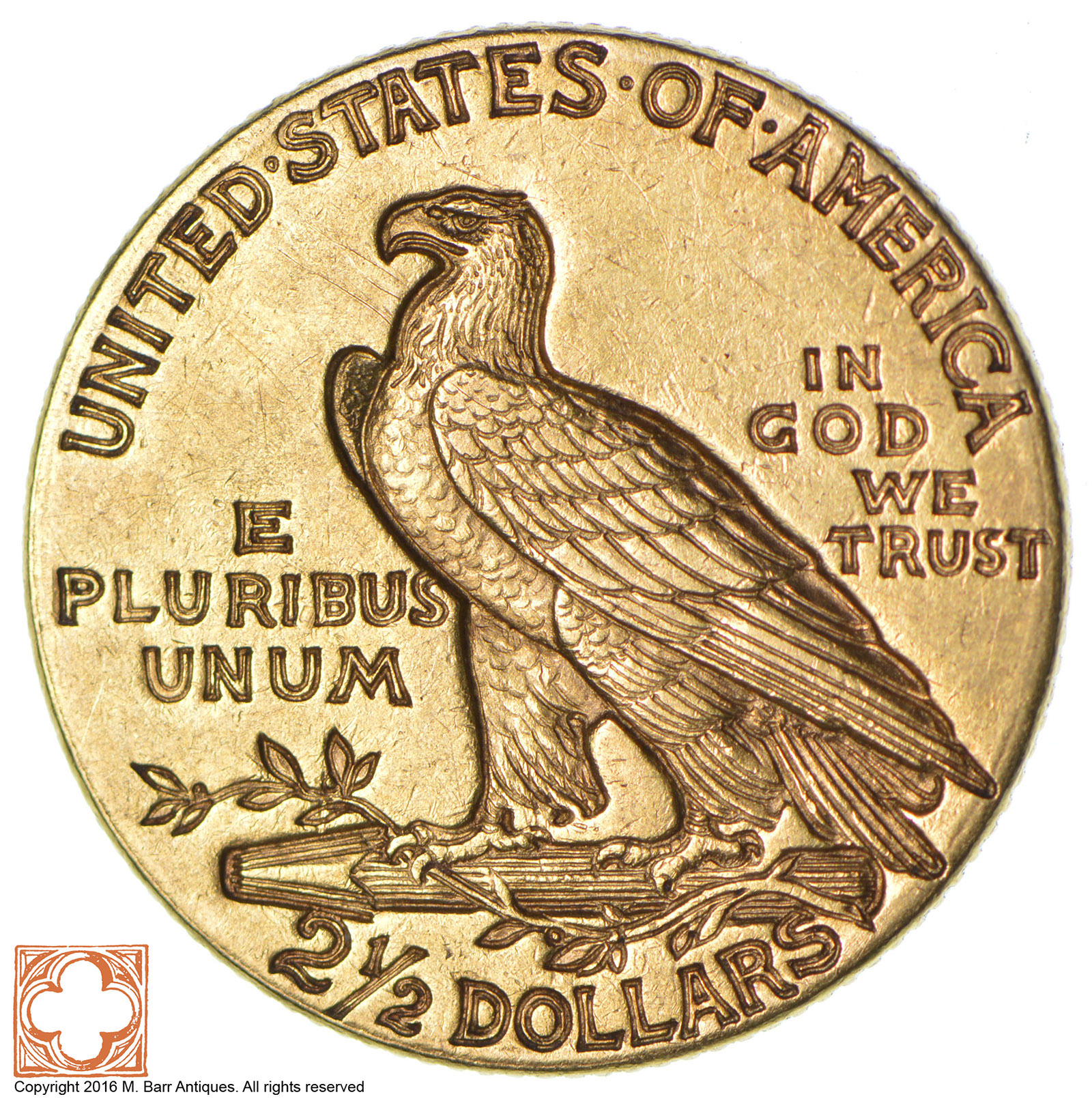 $2.50 United States Gold Coin - 1913 Incused Indian ...