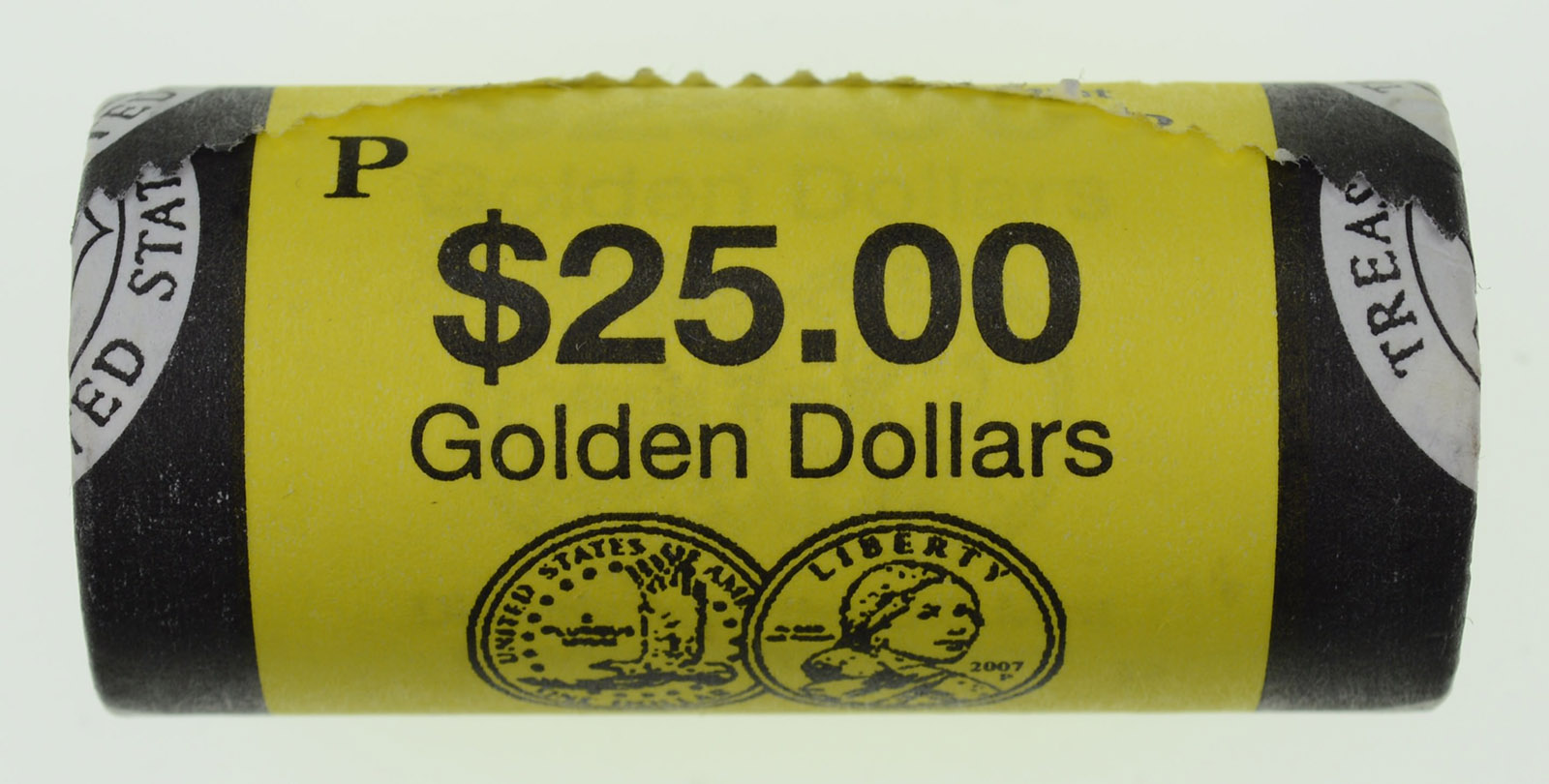 """2007 P Thomas Jefferson Presidential /""""Unopened/"""" Mint Dollar 25 Coin ROLL"""
