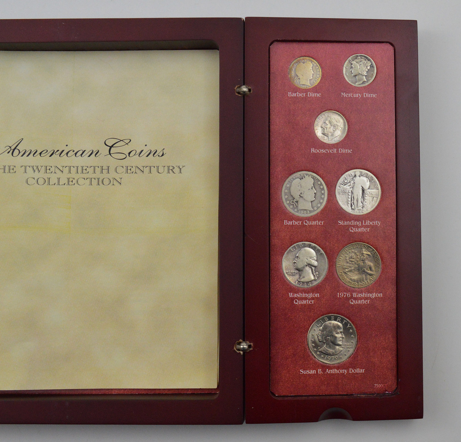 27 Coins - American Coins of the 20th Century Type Set Wood
