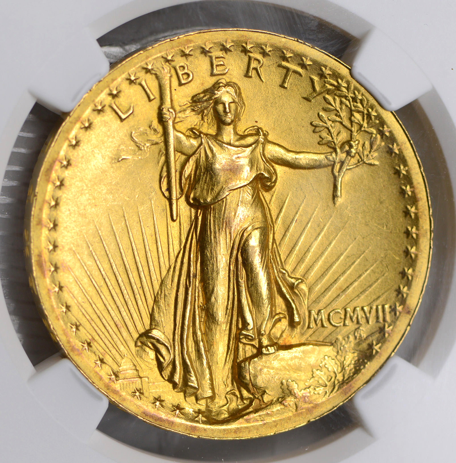 Rare Ms62 1907 High Relief 20 00 St Gaudens Gold Double