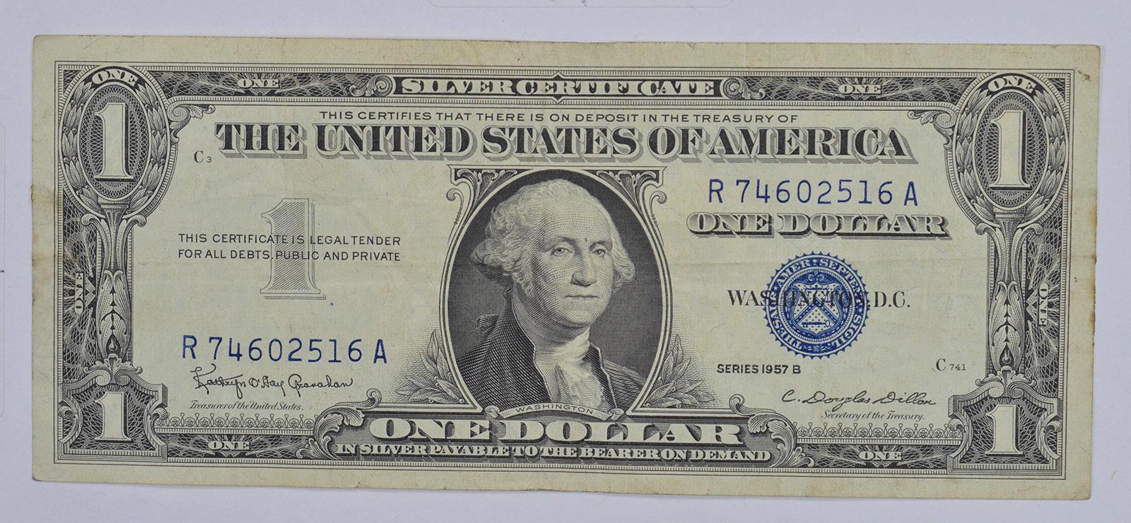 B Series 1957 B Silver Certificate Crisp 100 United States Note