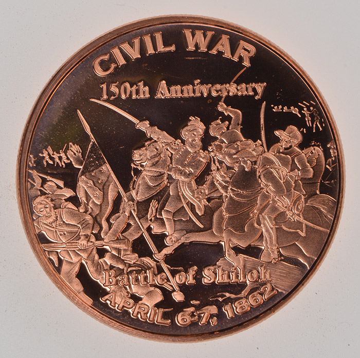 Battle of Shiloh 1 oz Copper Round