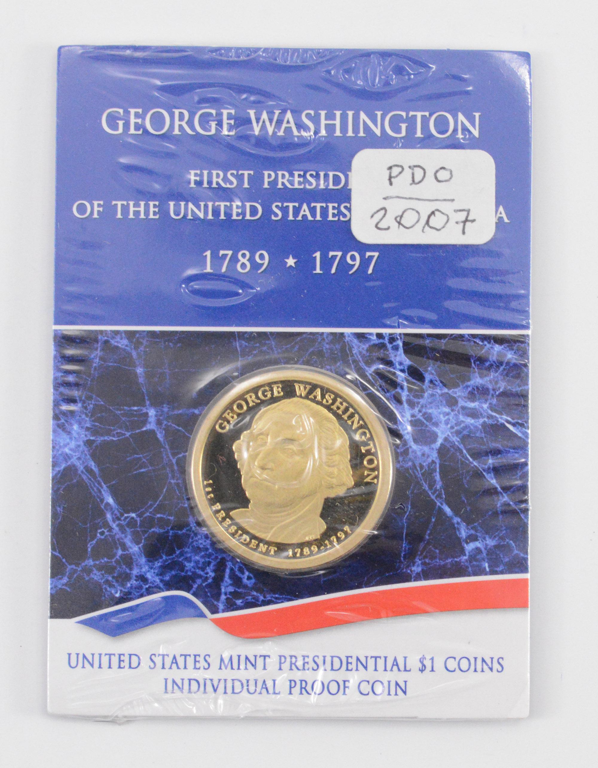 Beautiful - Full Color - George Washington Presidential Dollar ...