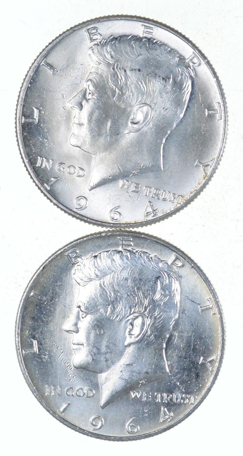 1964 Kennedy 90/% Silver Brilliant Uncirculated Half Dollar