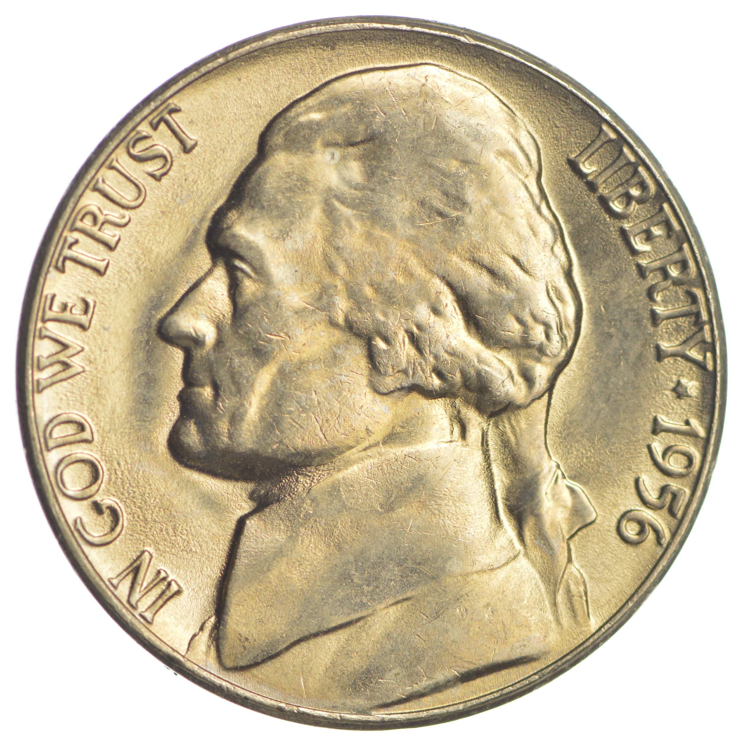 CH Unc 1956 Early Jefferson Nickel