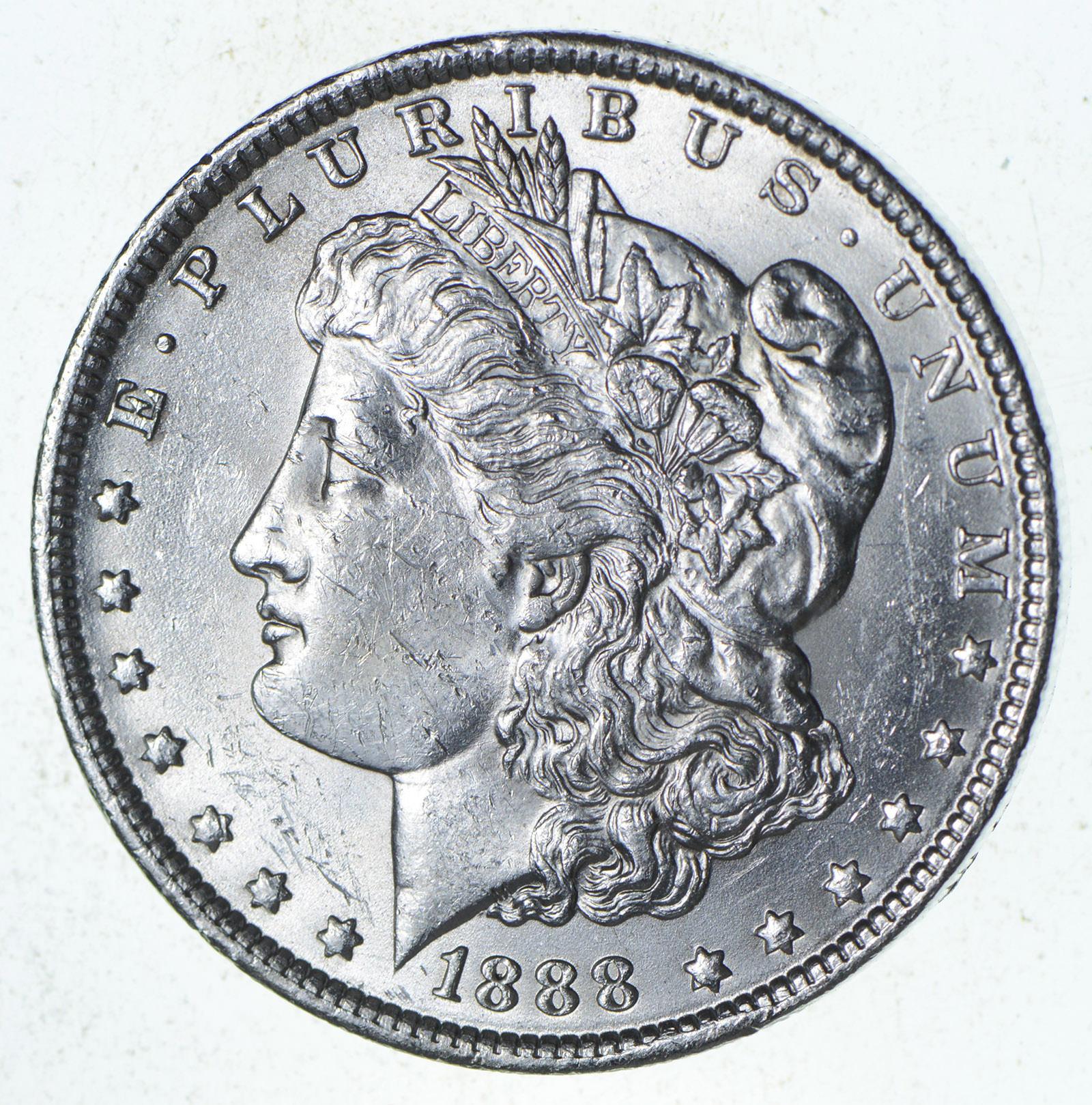 1888-O $1 Morgan Silver Dollar AU About Uncirculated