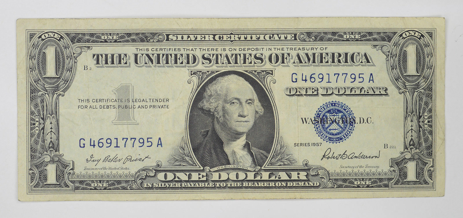 Crisp 1957 100 Silver Certificate United States Dollar Currency