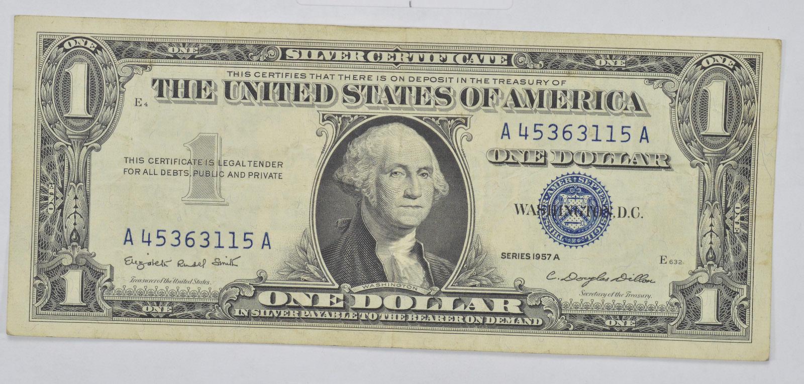 Douglas Dillon Sec Crisp Silver Certificate 1957 A 100 Dollar