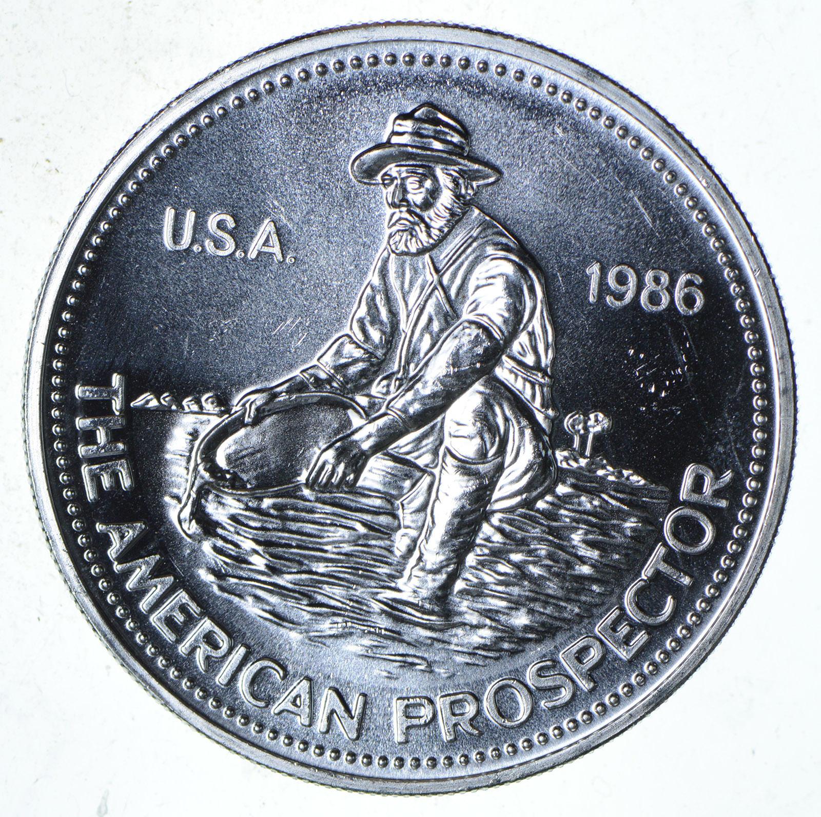 1 GRAM .999 PURE SILVER AMERICAN PROSPECTOR ROUNDS 100