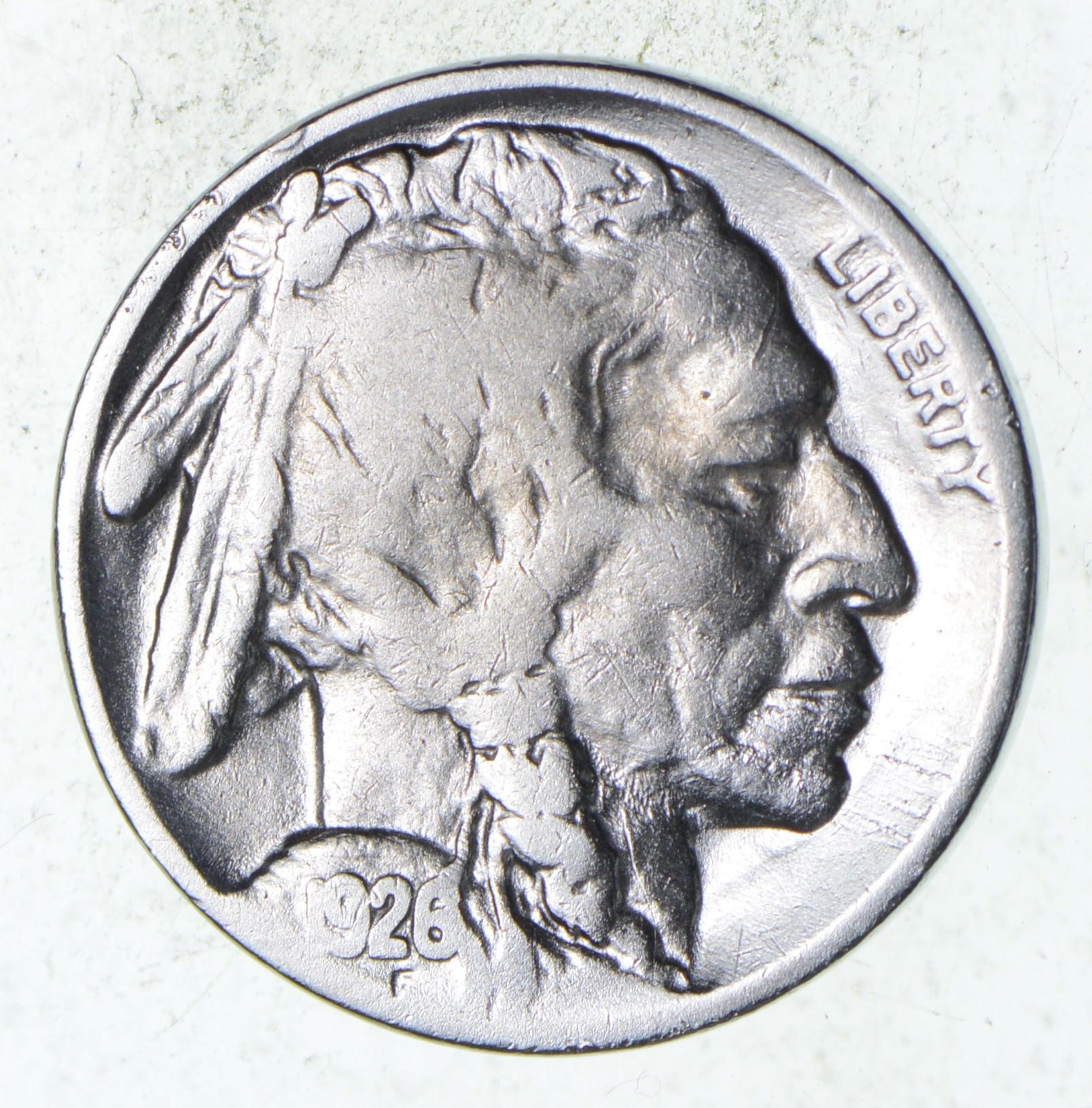 FULL HORN - High Grade - TOUGH - 1926 Buffalo Nickel - Sharp Coin