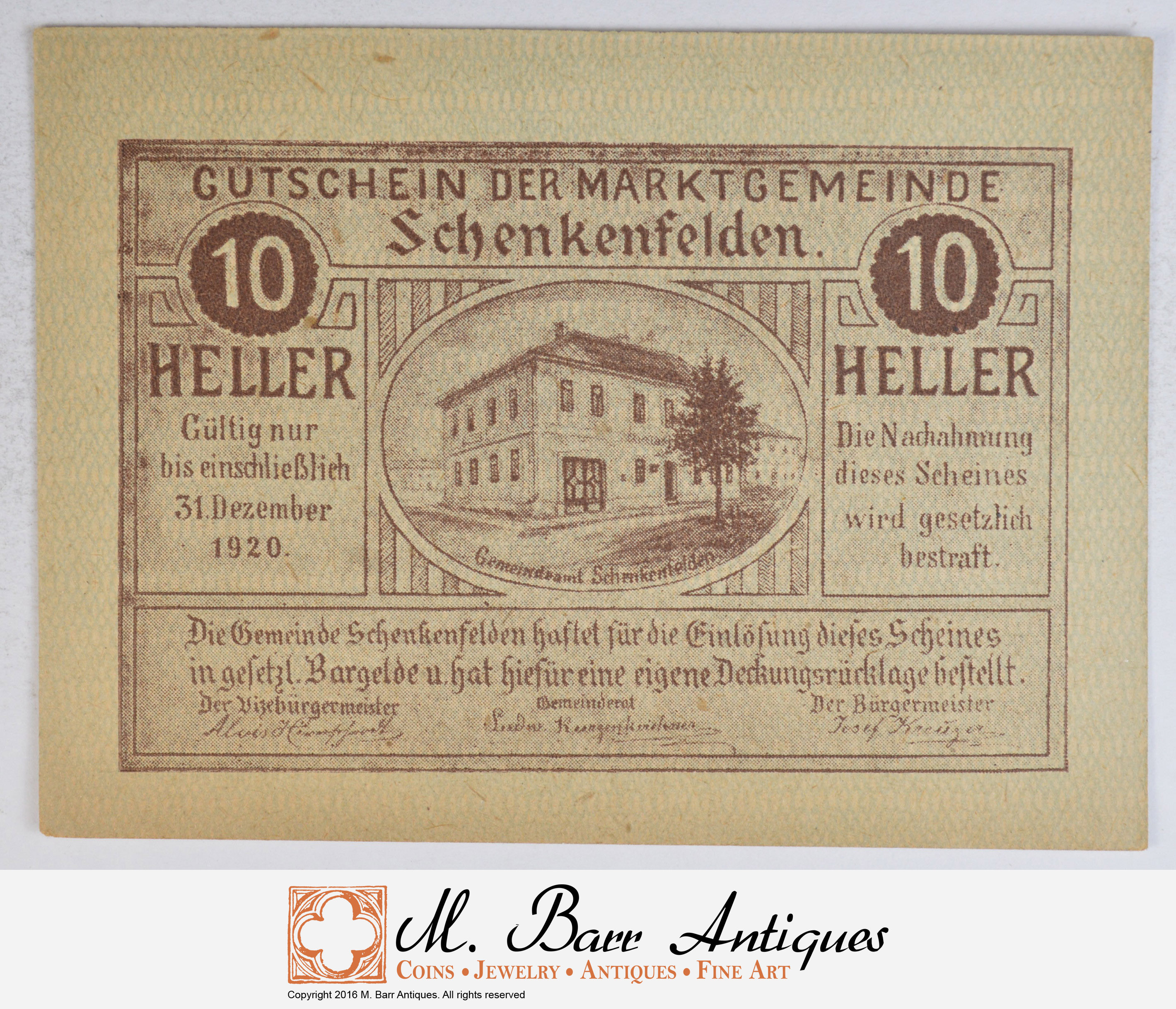 classic styles newest collection 100% high quality German - Notgeld Note - Historic - 1920's/30's Era - Great ...