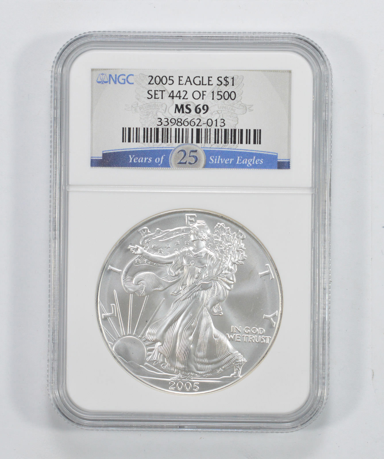 NGC MS69 2005 American Silver Eagle