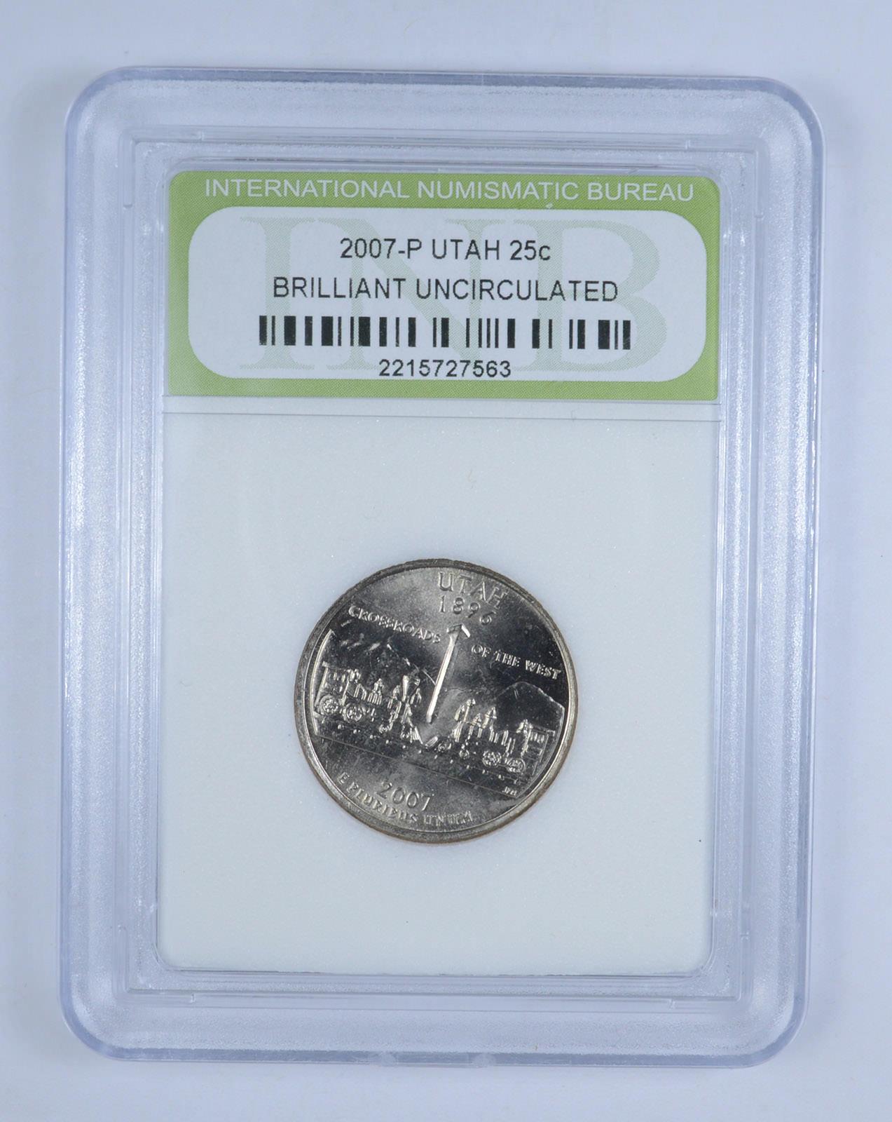 2007 P Utah State Quarter BU Brilliant Uncirculated Coin