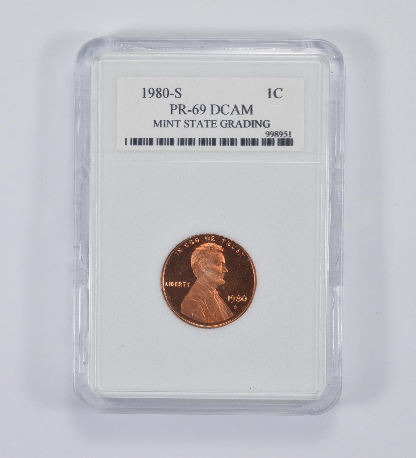 Graded - PR69DCAM 1980-S Lincoln Memorial Cent - MSG Graded