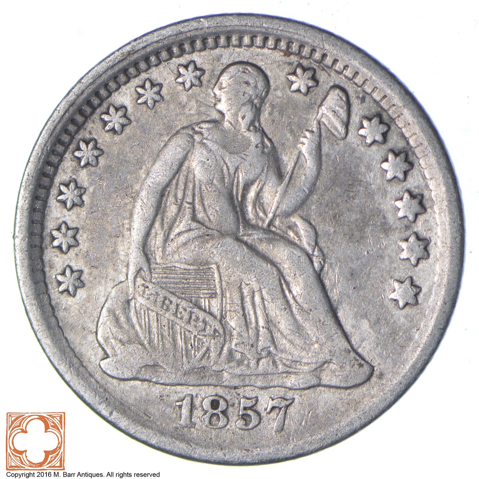 1857 half dime coin value