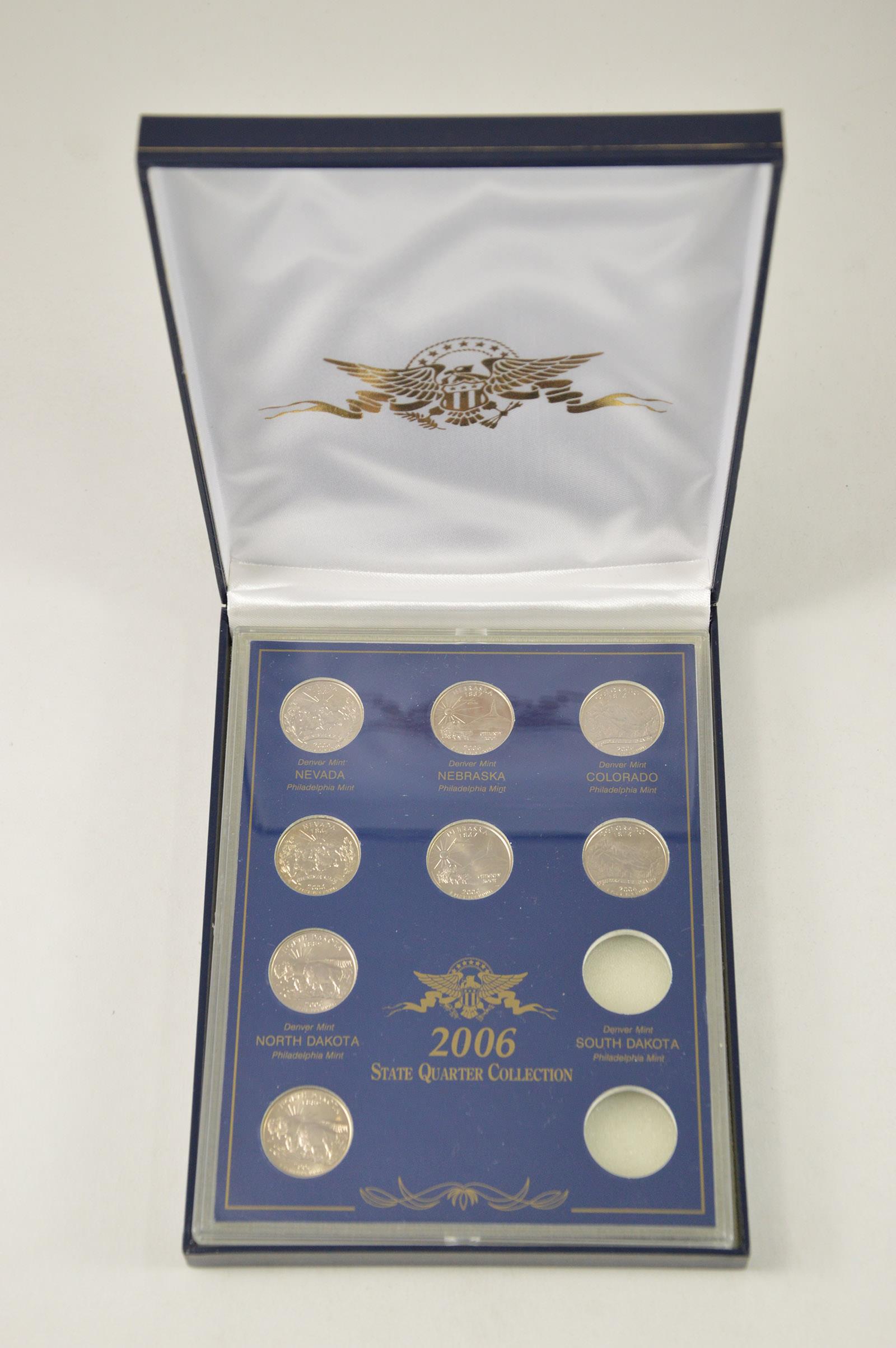 2006 P NEBRASKA COIN /& DIE SET WITH BOX AND COA