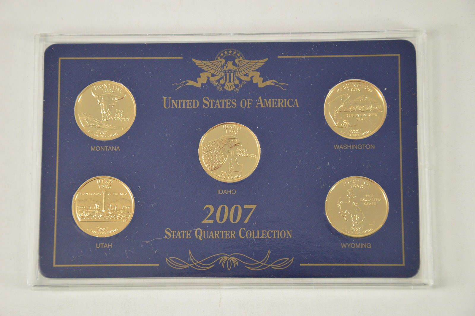 594. 1999 gold edition state quarter collection in original box.