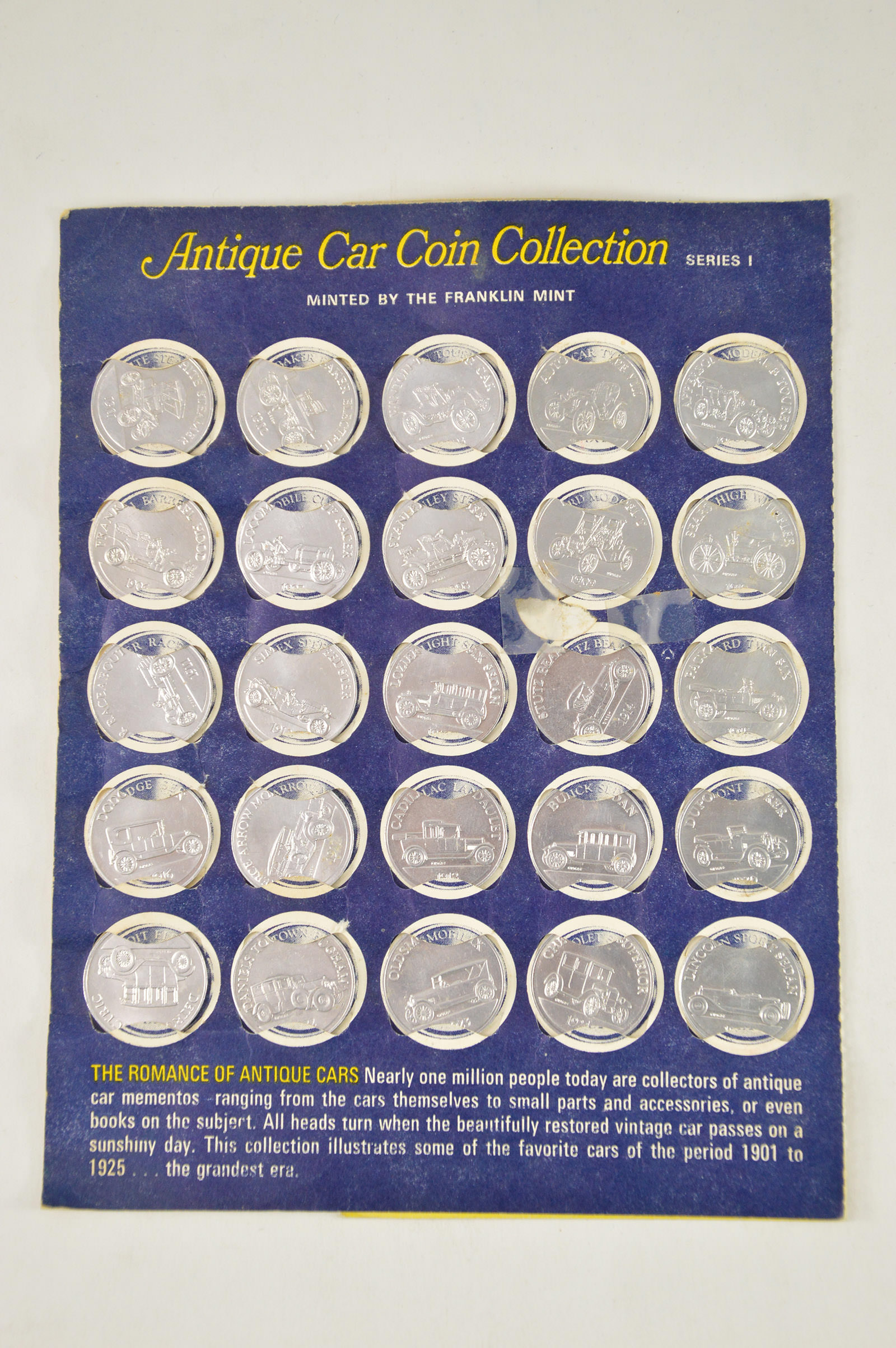Image 1 Of 2 Historic Coin Collection Antique Car Series