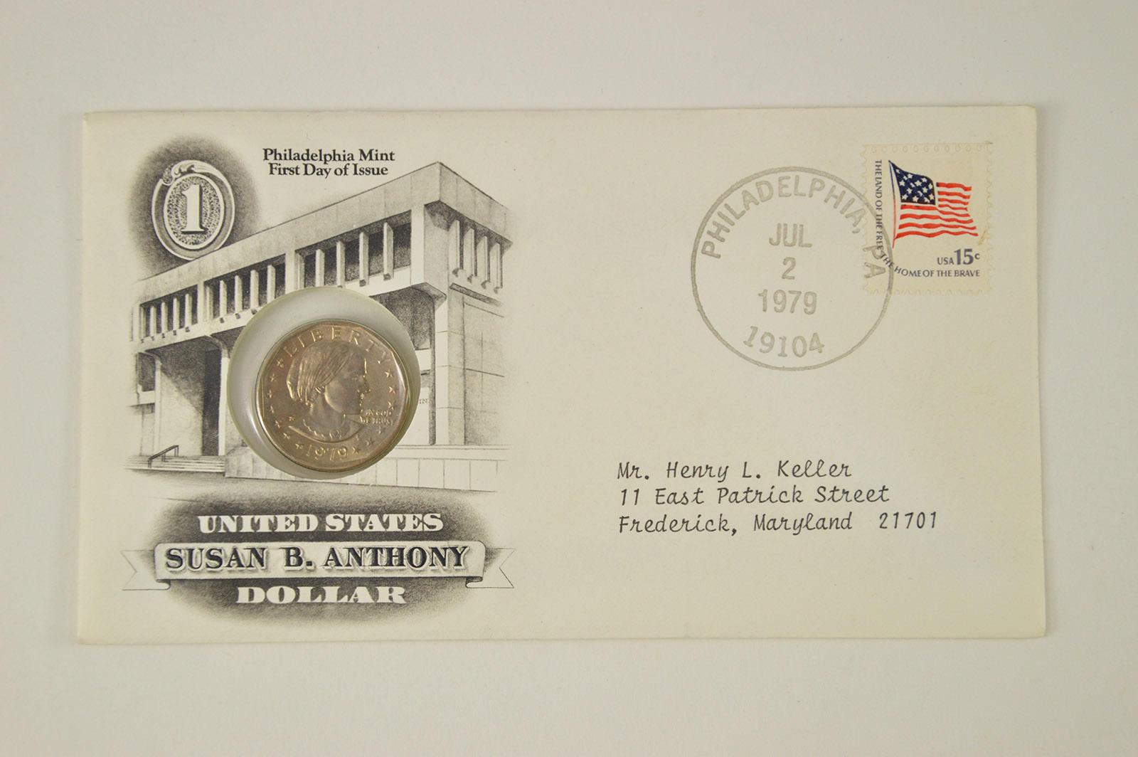 1979 Susan Anthony Dollar Souvenir Set In U S MINT Envelope