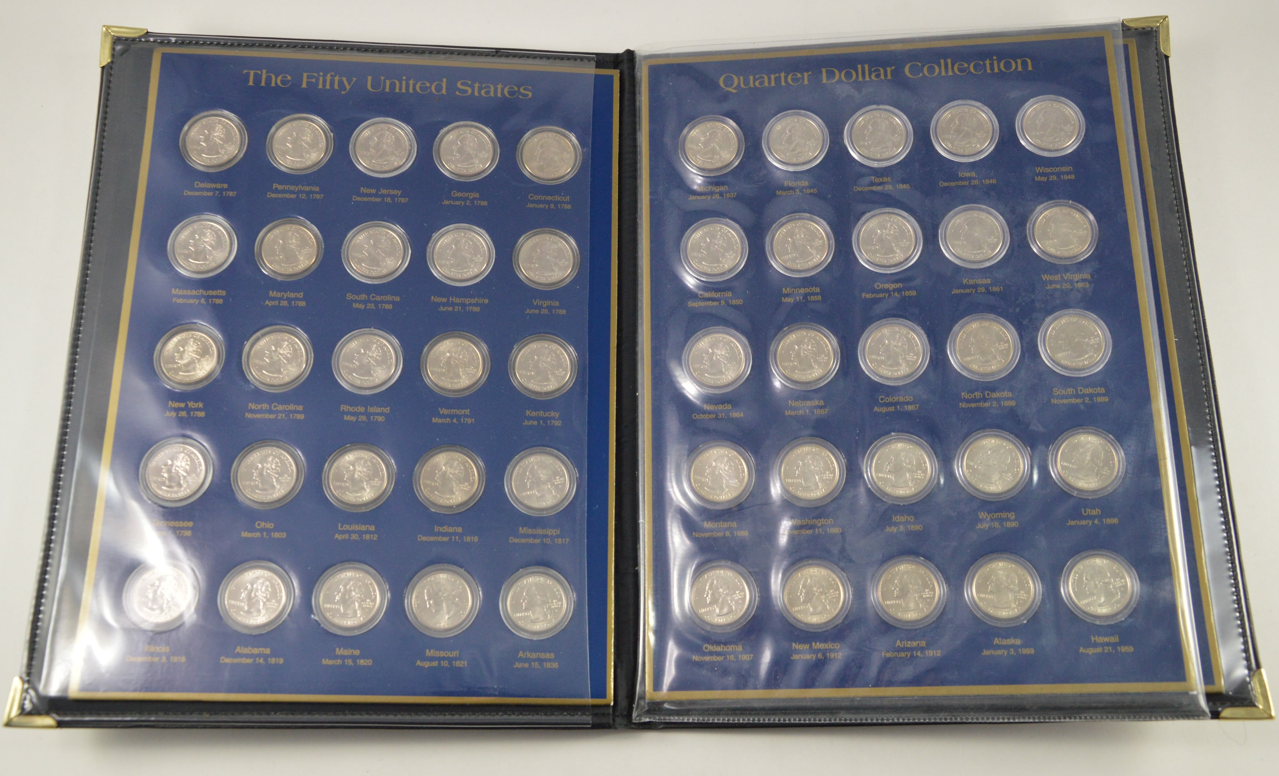Historic Coin Collection The Fifty Us Quarter Dollar