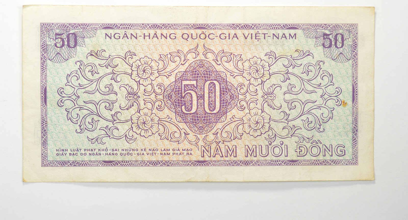 Historic Vietnam Currency Note - Great History | Property Room