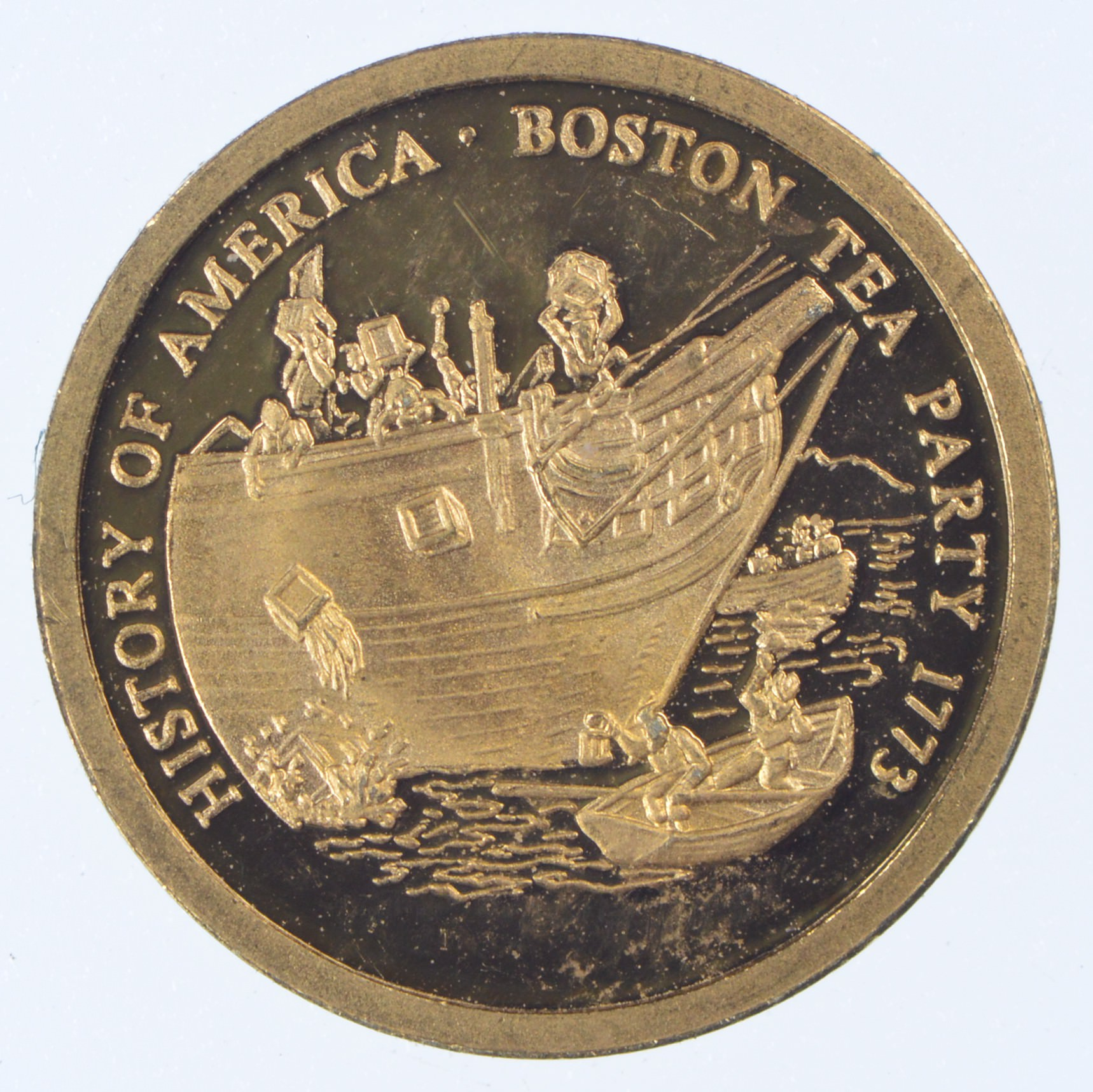 History Of America Boston Tea Party 1773 5 Gram 14k Gold