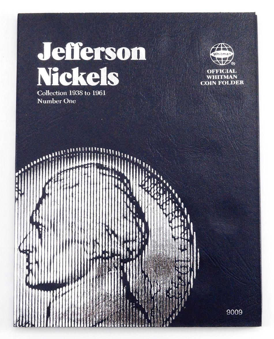 jefferson nickels folder 1938 1961 official whitman coin folder
