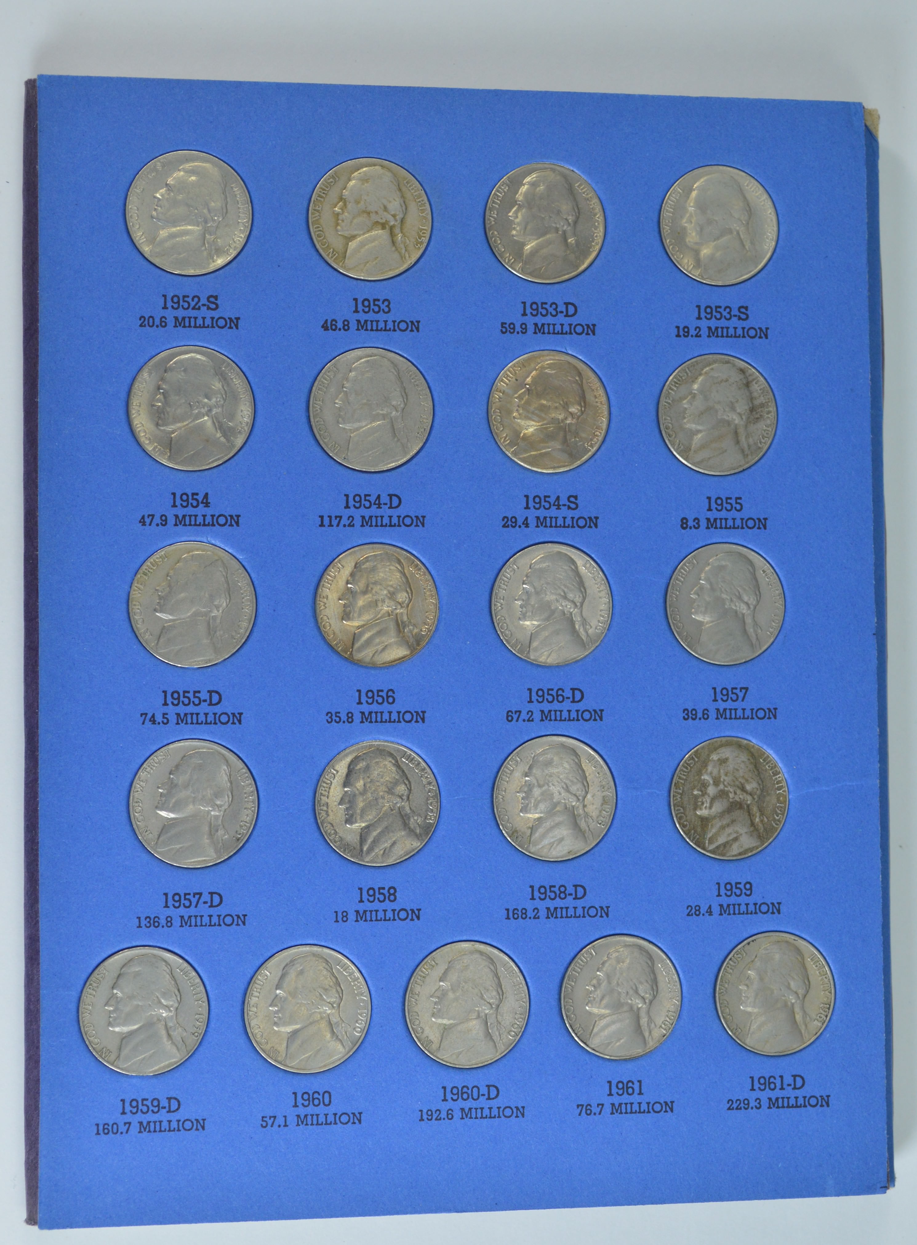 Jefferson Nickels (1938-1961) Number 1 Whitman Coin Folder W