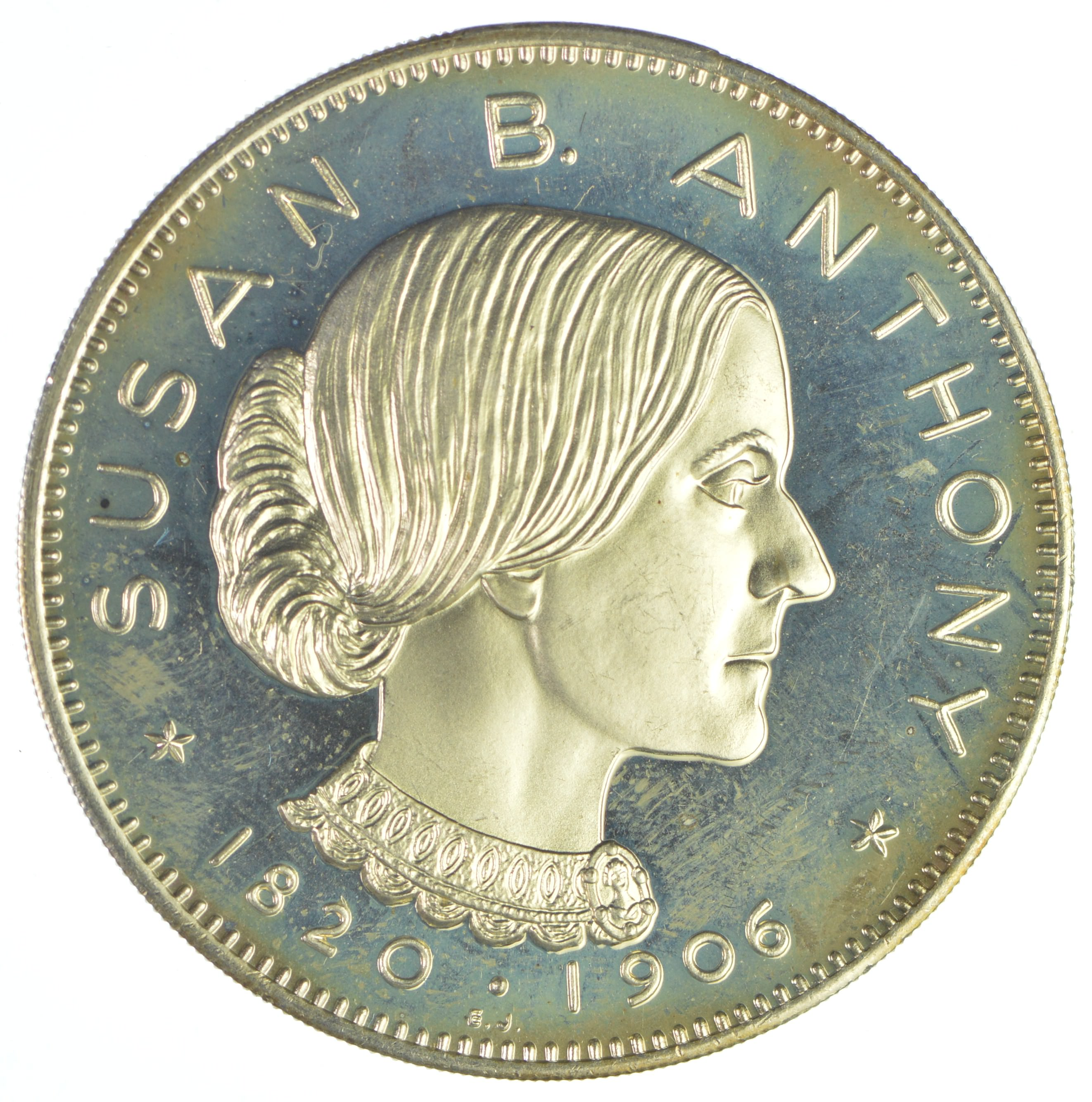 Limited Edition Silver Round Susan B Anthony Equal Rights For Women 0 925 Sterling 26 7 Grams
